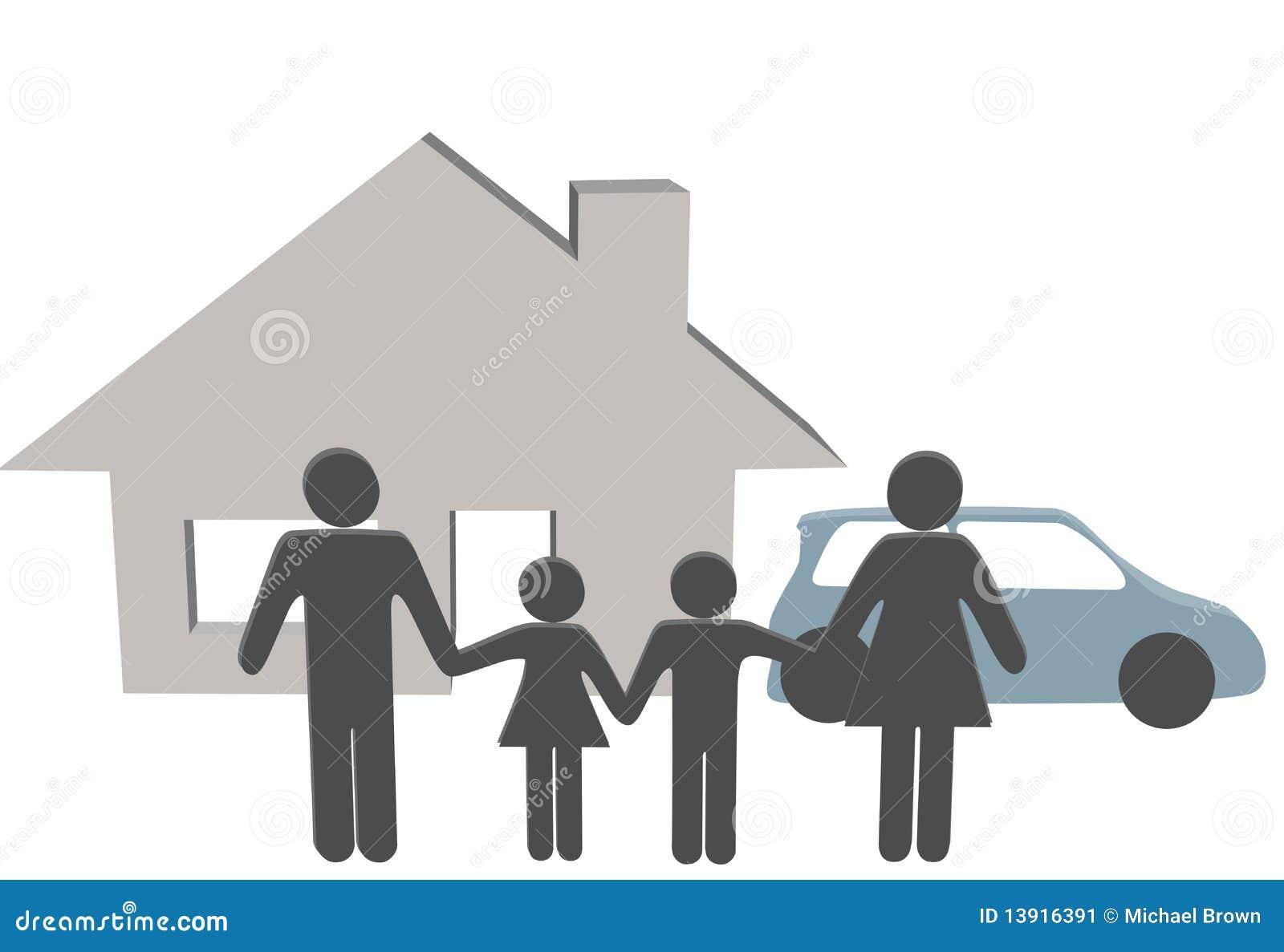 Simboli della gente dell 39 automobile della casa della gente for Creatore della pianta della casa