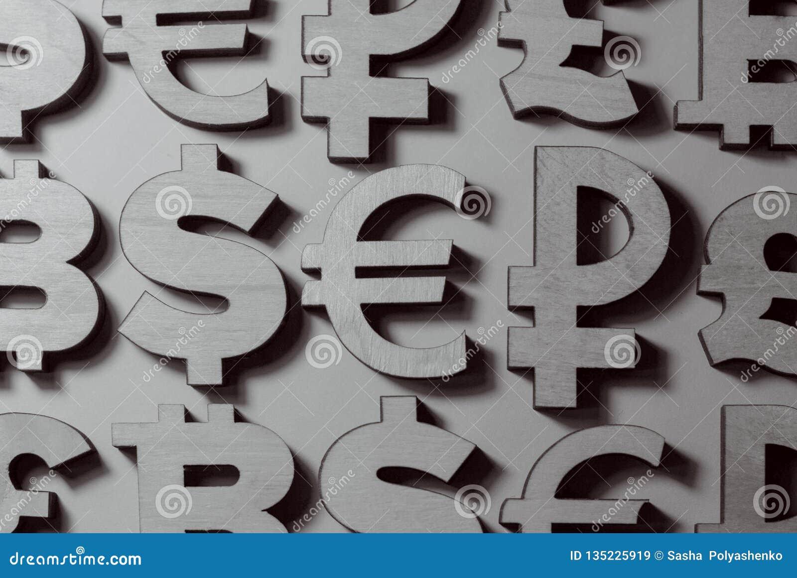 Simboli di soldi e di valute