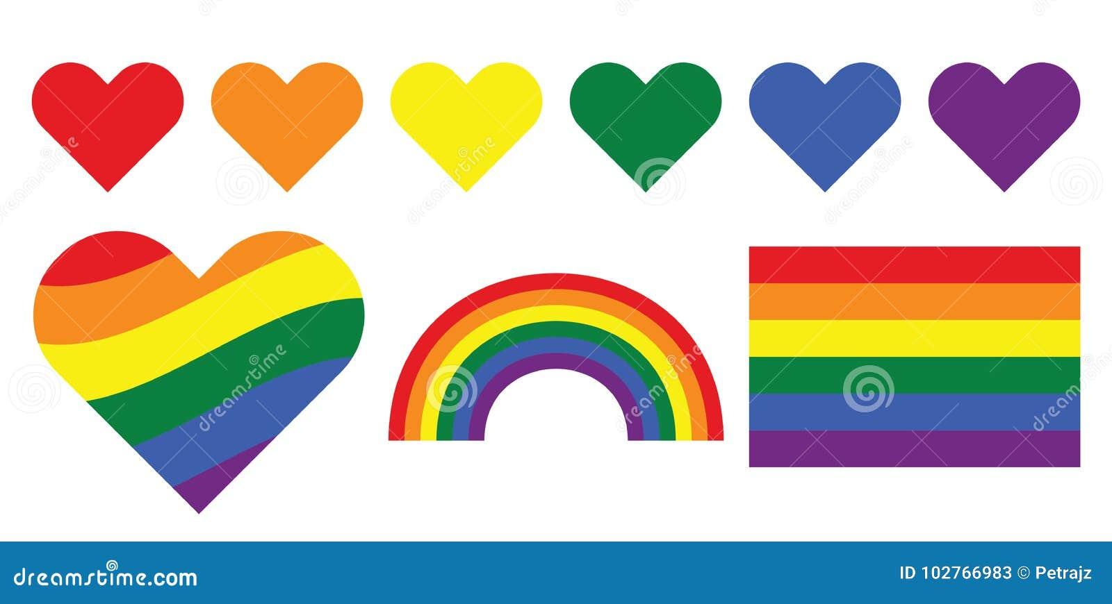 Simboli gay dell arcobaleno di LGBT