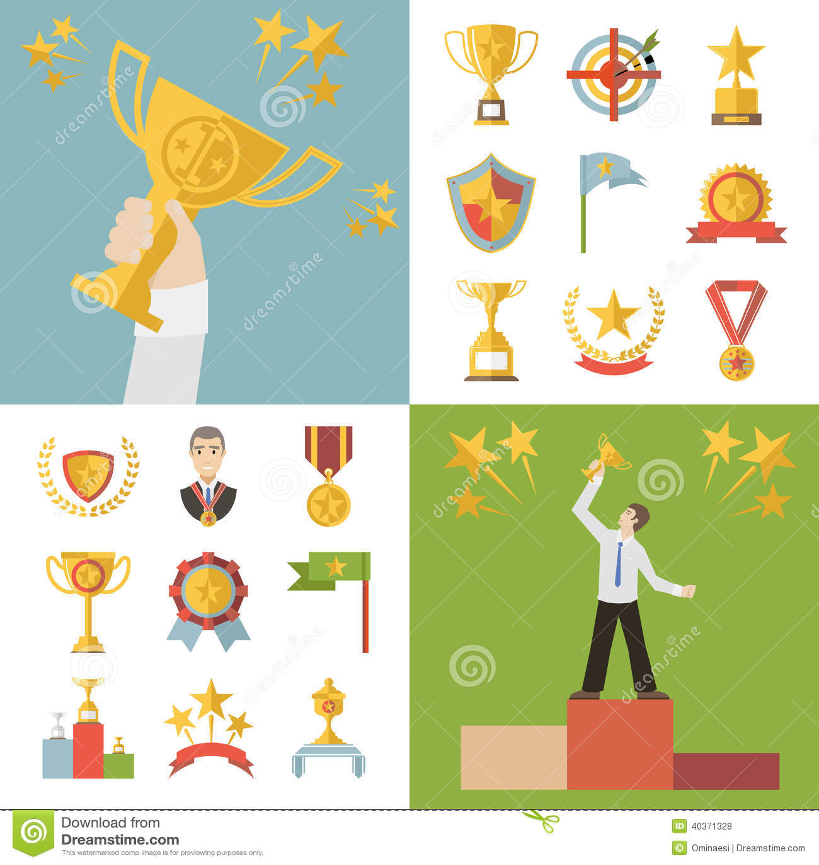 Simboli piani dei premi di progettazione ed illustrazione for Piani di progettazione del padiglione
