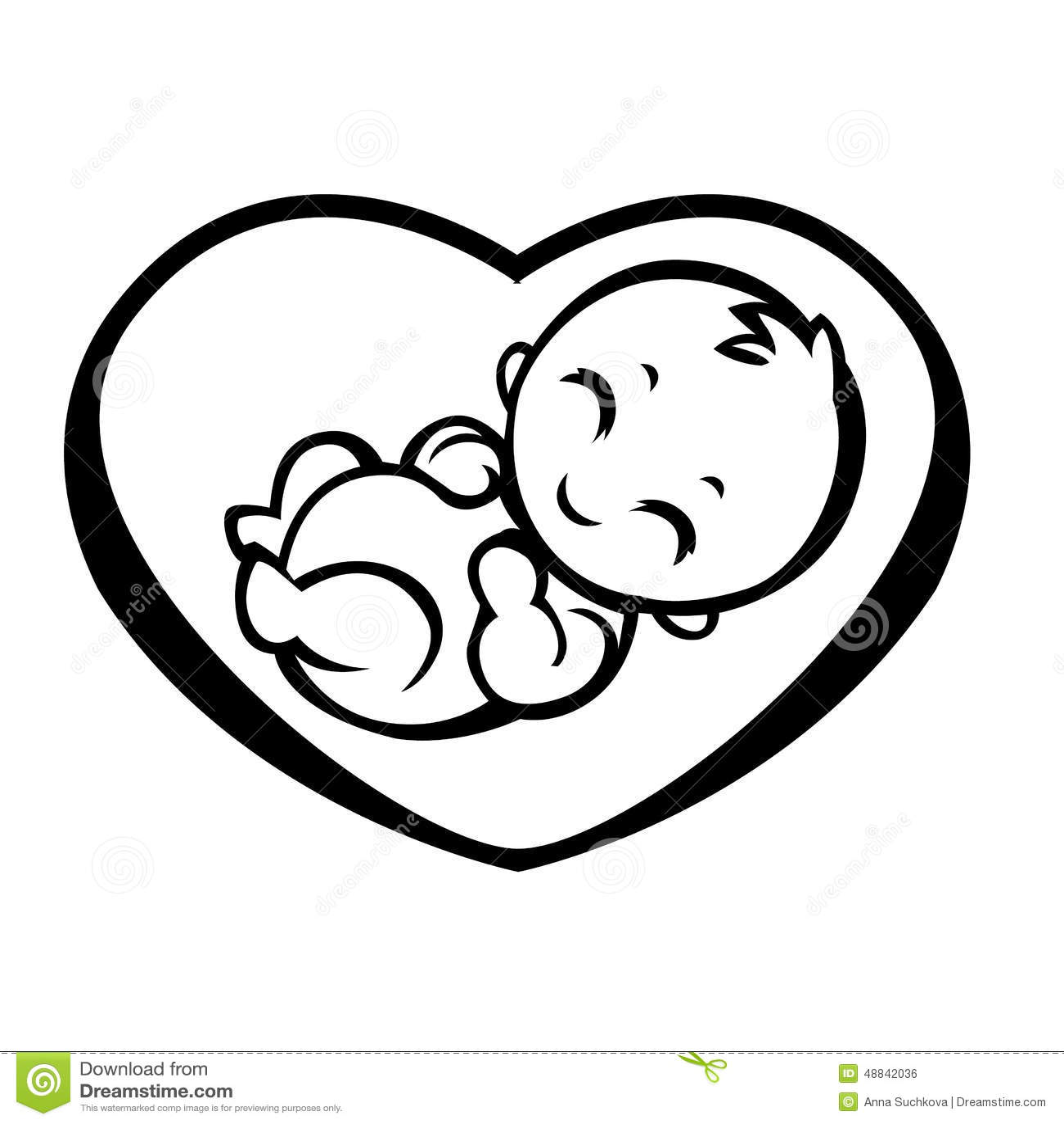 Simbolo Allegorico Di Maternità Illustrazione Vettoriale