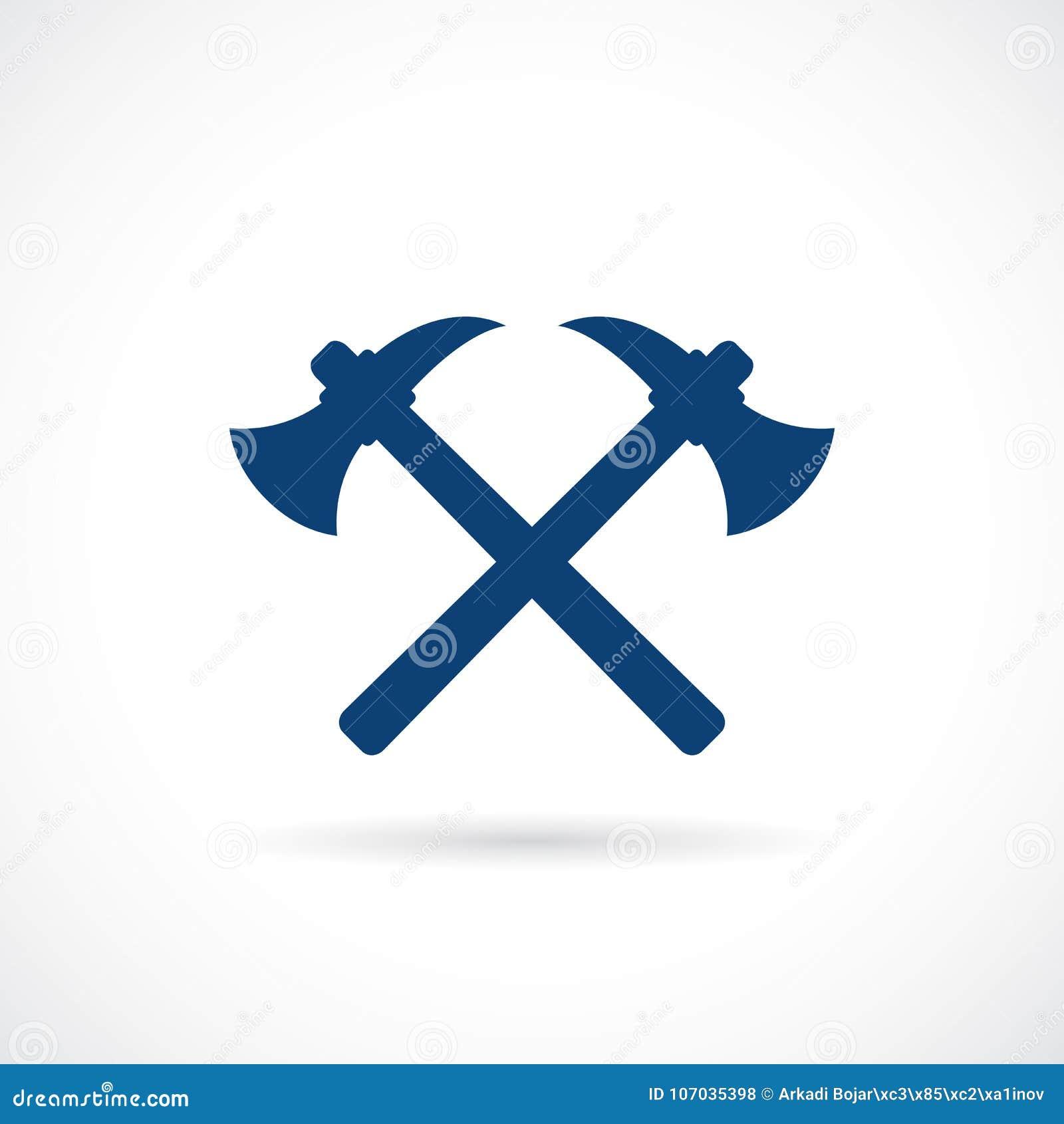 Simbolo Attraversato Di Vettore Del Lavoro Dell'estratto