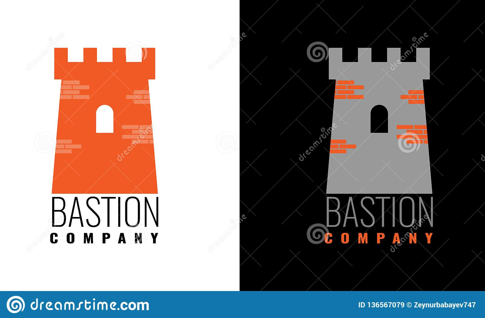Simbolo autentico della torre del castello per progettazione dell icona o di logo Illustrazione di vettore