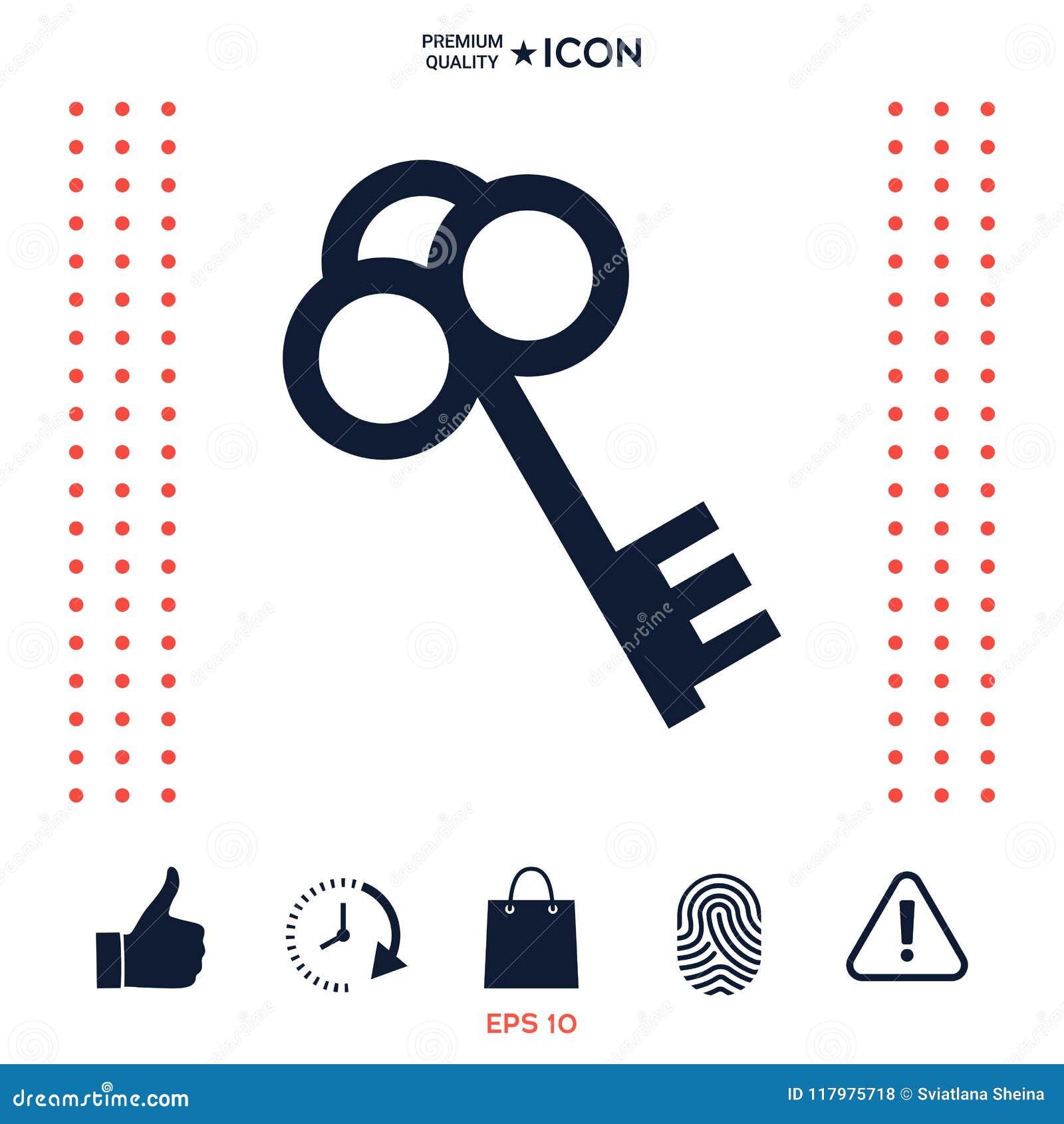 Download Simbolo chiave dell'icona illustrazione vettoriale. Illustrazione di illustrazione - 117975718