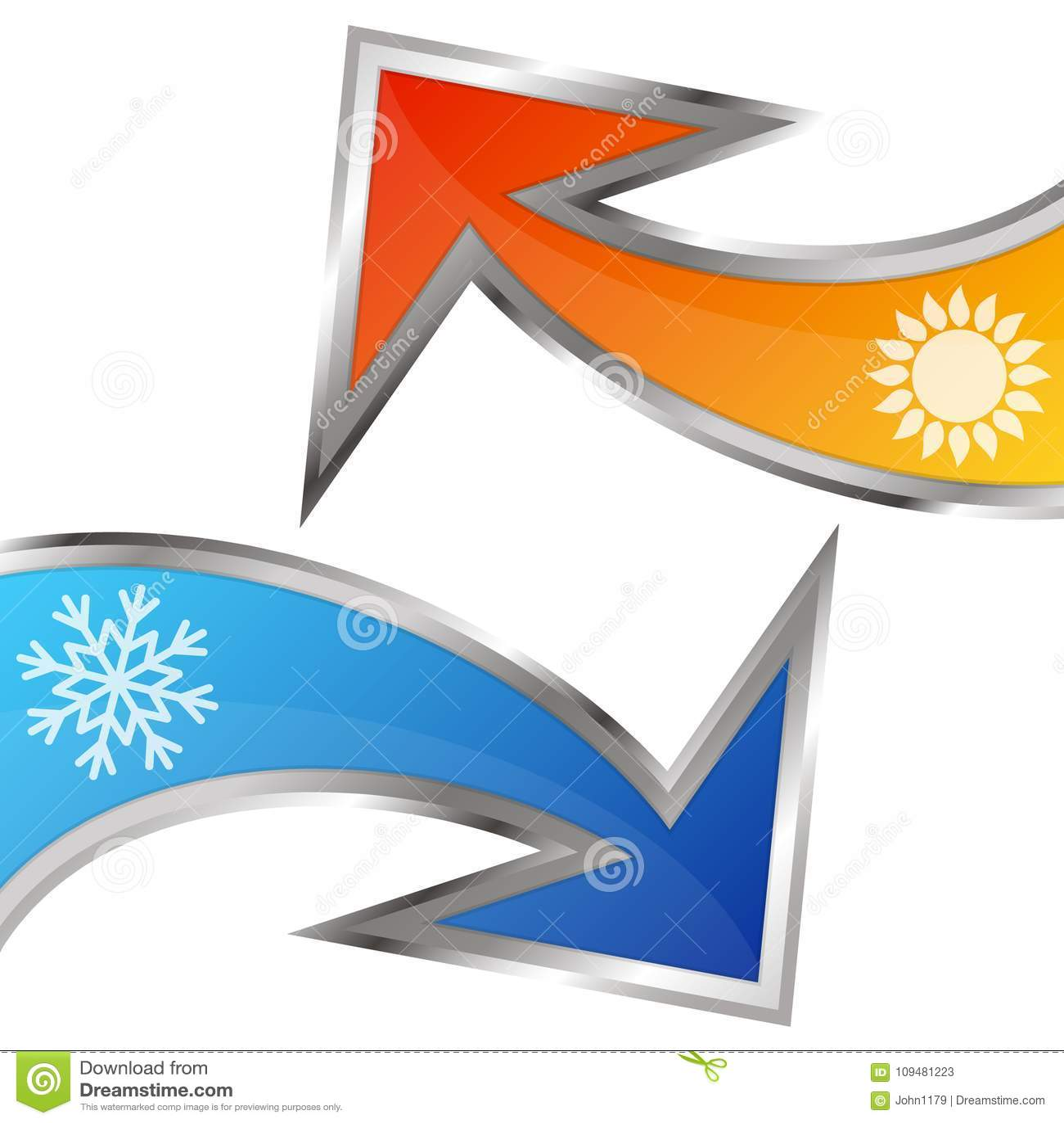 Simbolo Del Condizionamento D Aria Delle Frecce