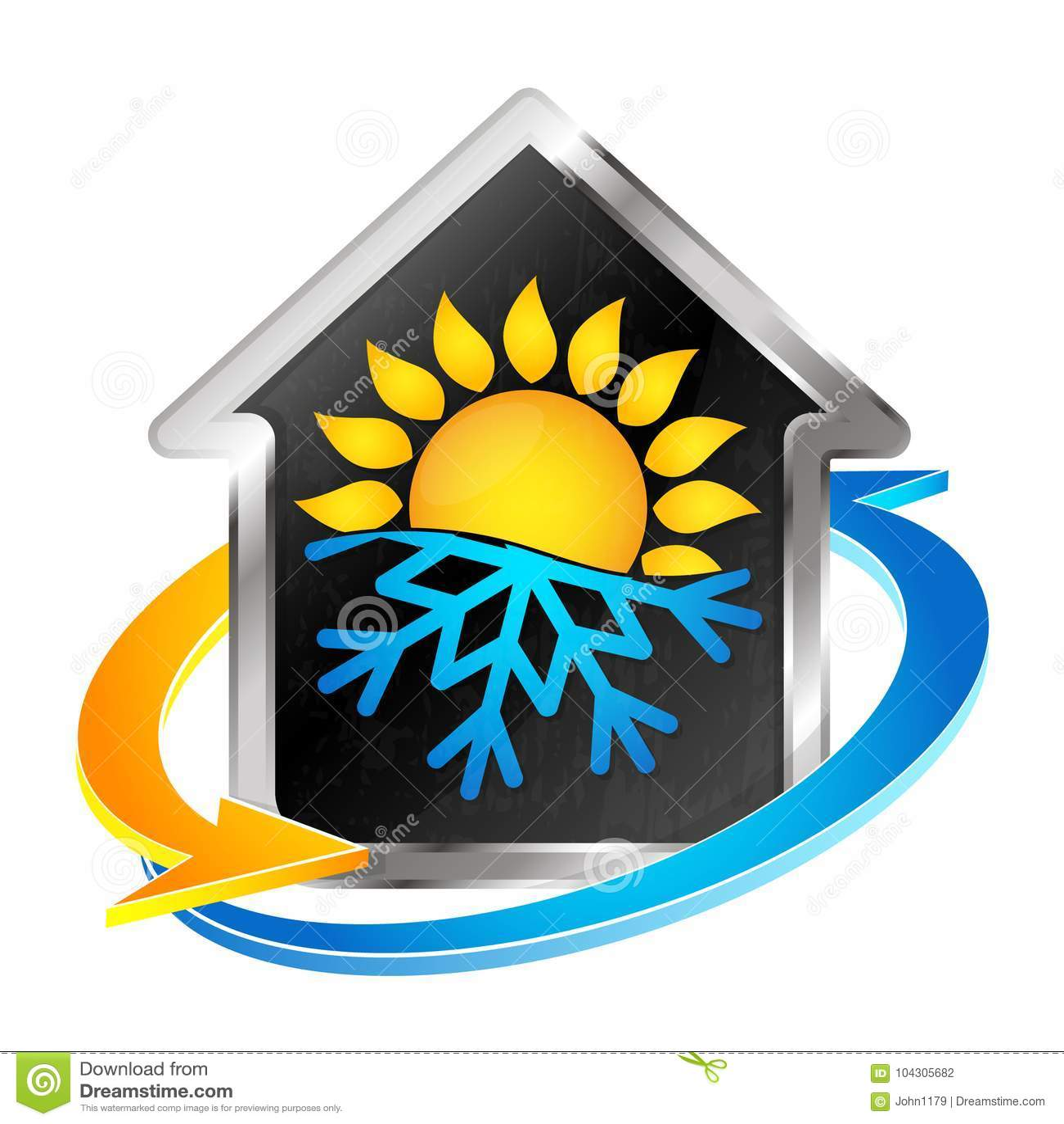 Simbolo Del Riscaldamento E Del Condizionamento D Aria