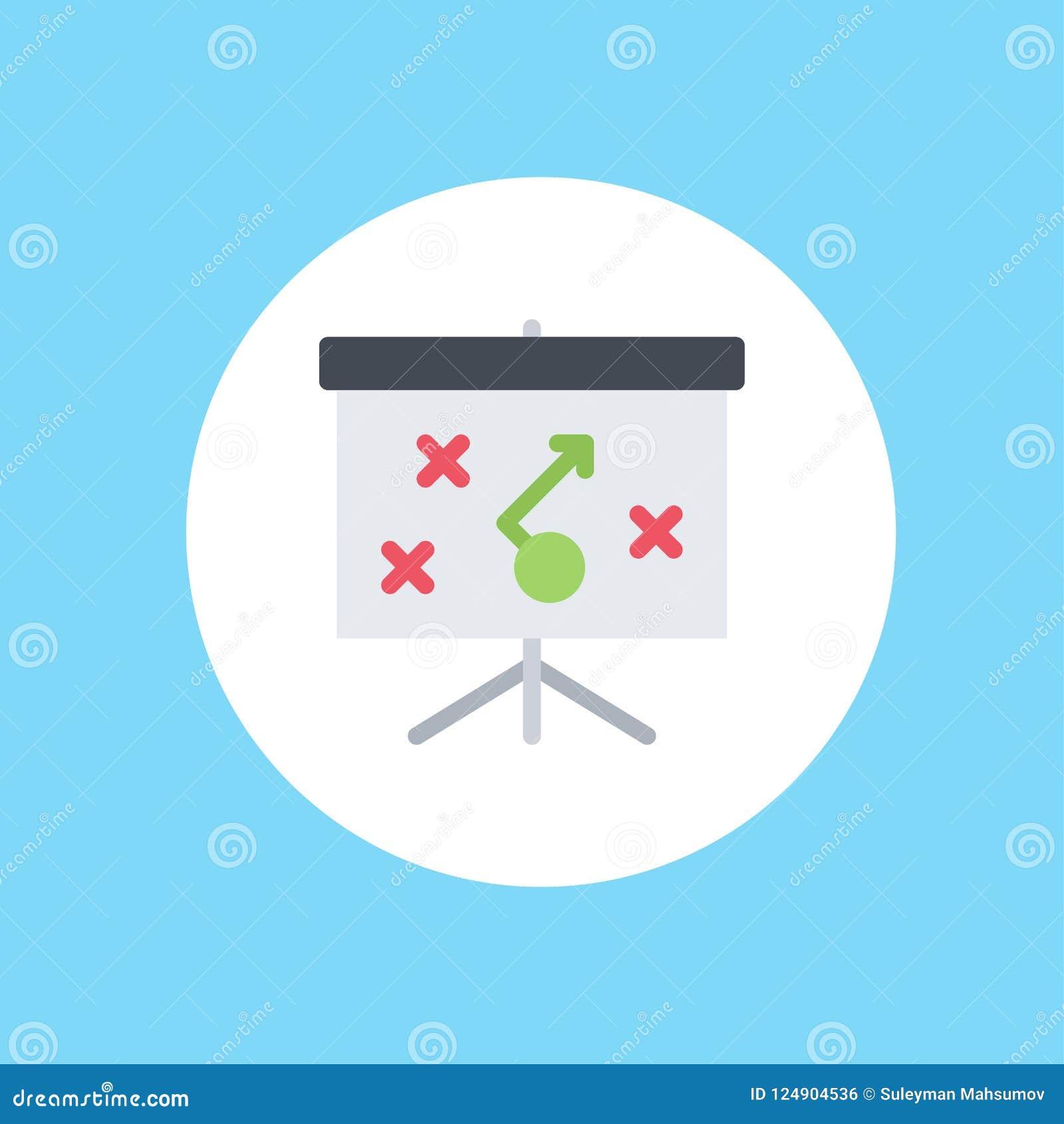 Simbolo del segno dell icona di vettore di strategia