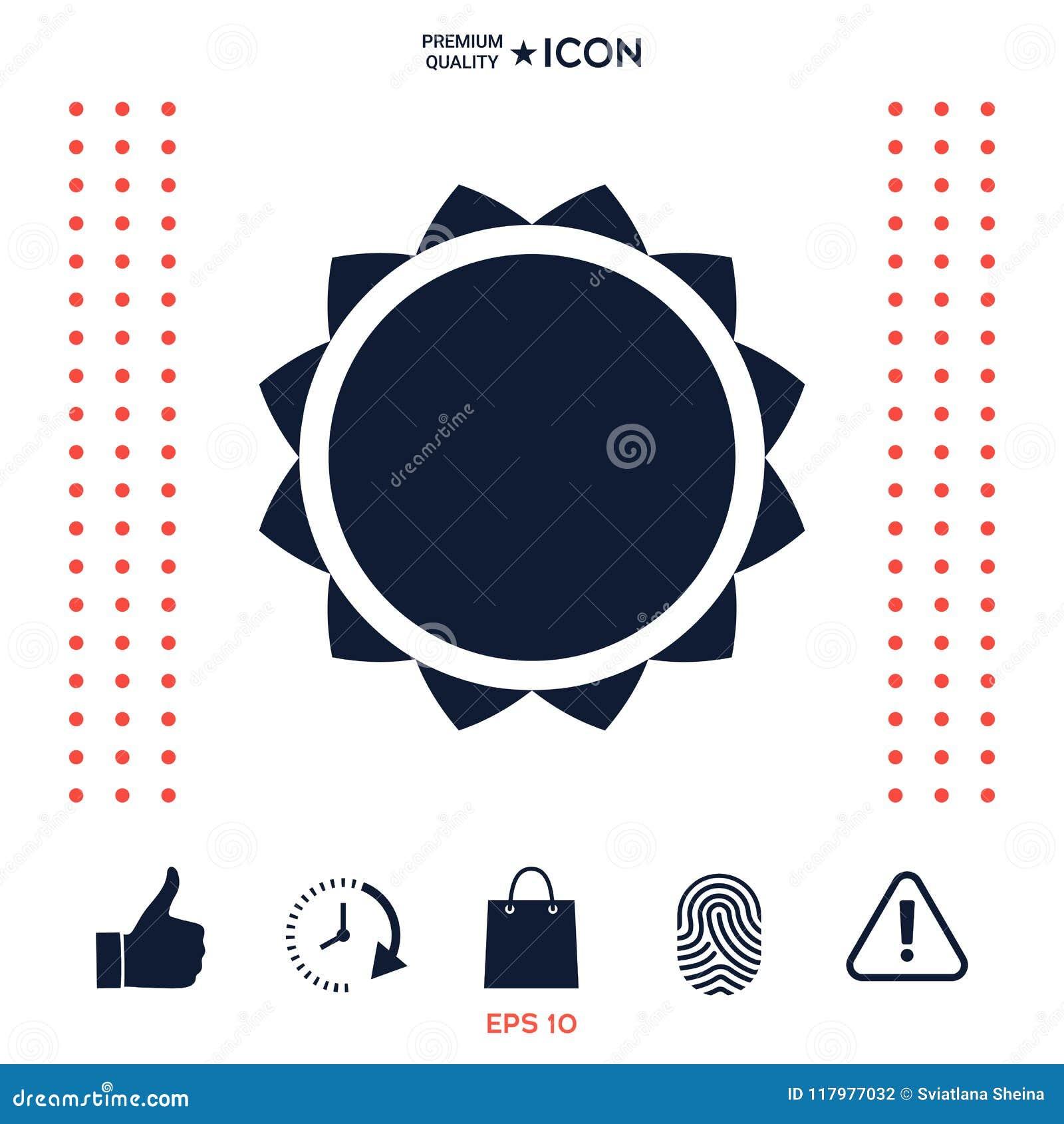 Download Simbolo dell'icona di Sun illustrazione vettoriale. Illustrazione di molla - 117977032