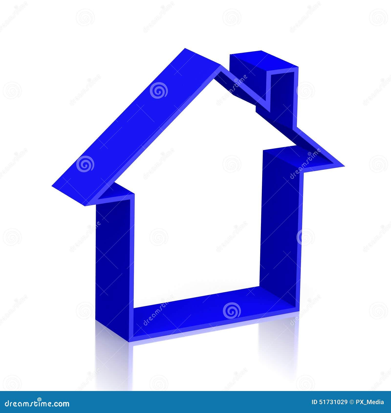 Simbolo della casa 3d illustrazione di stock immagine di for Disposizione della casa 3d