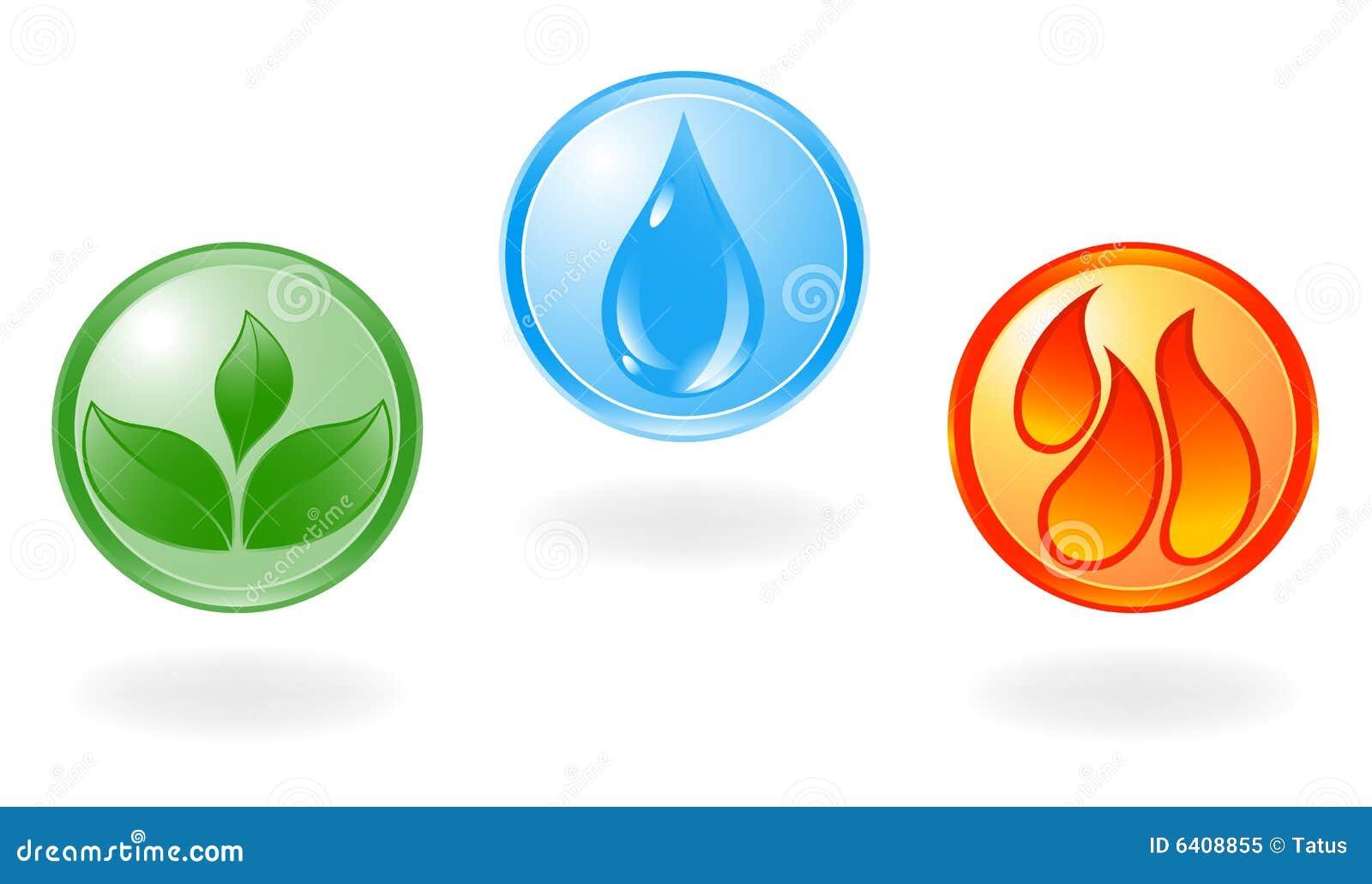 Simbolo della pianta, dell acqua e di fuoco.