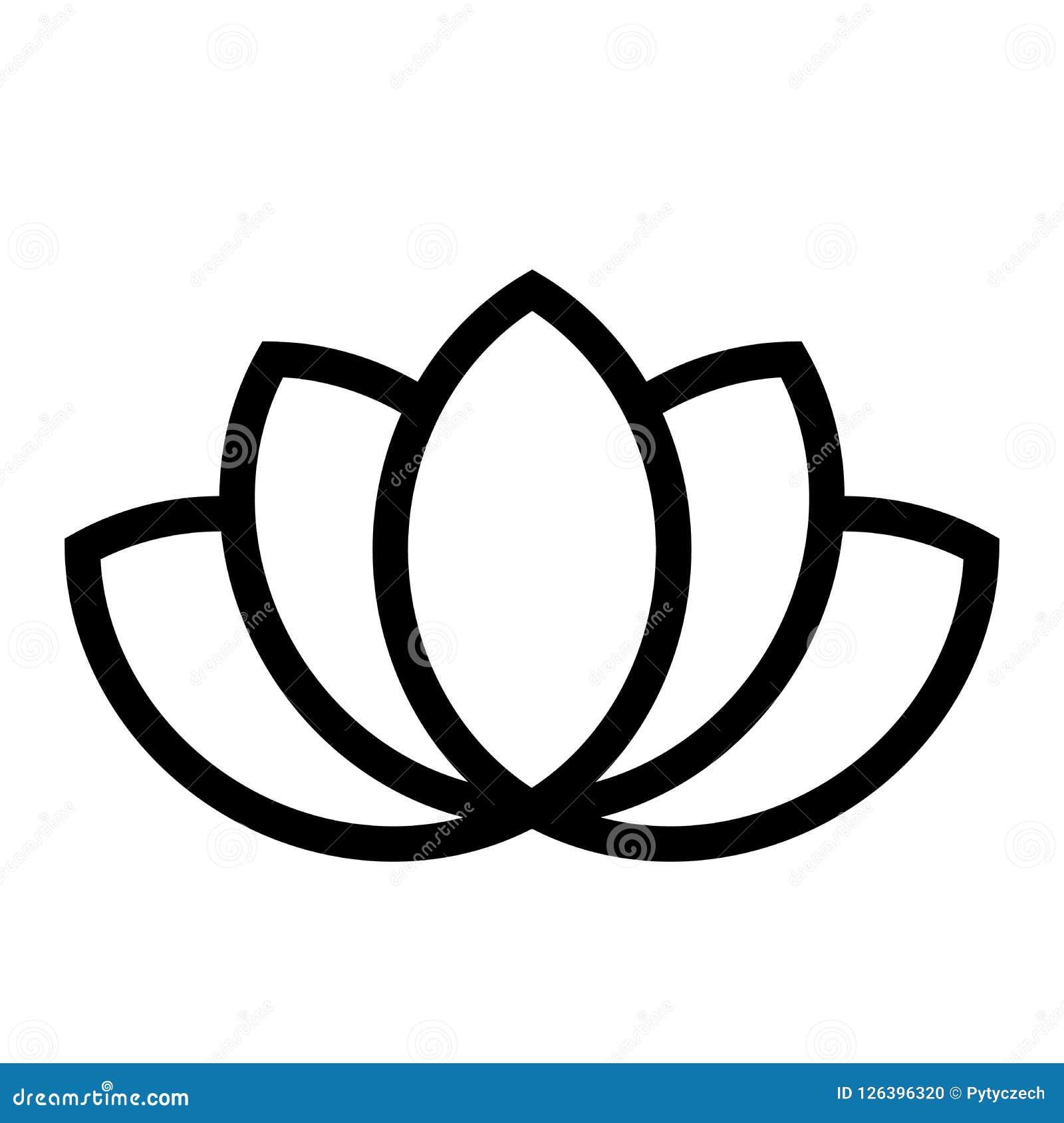 Simbolo Della Pianta Di Lotus Stazione Termale Ed Elemento Di Progettazione Di Tema Di Benessere Illustrazione Di Vettore Del Ner Illustrazione Vettoriale Illustrazione Di Isolato Salute 126396320