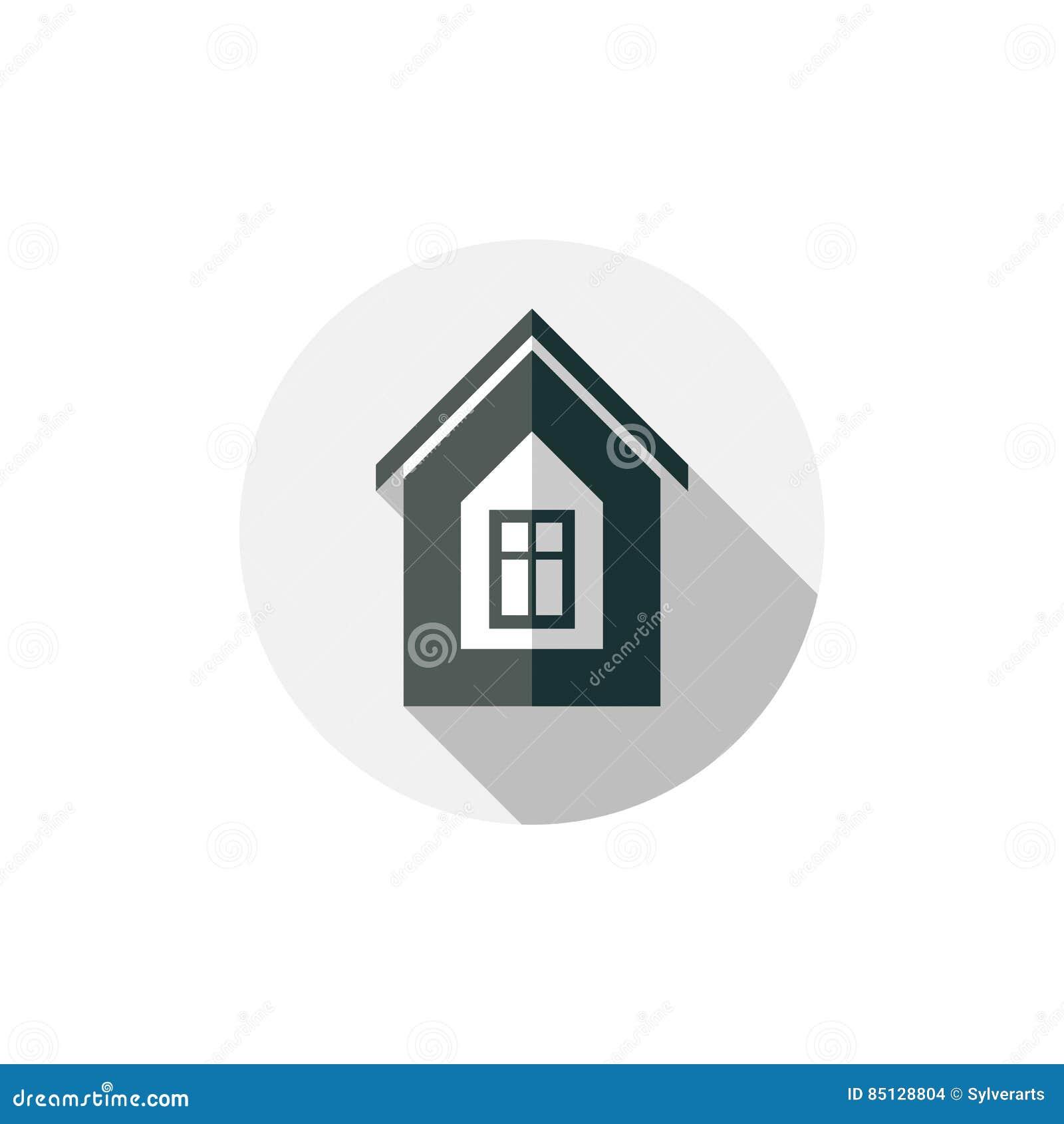 Simbolo della propriet casa di vettore costruita con i for Planimetrie della casa di mattoni