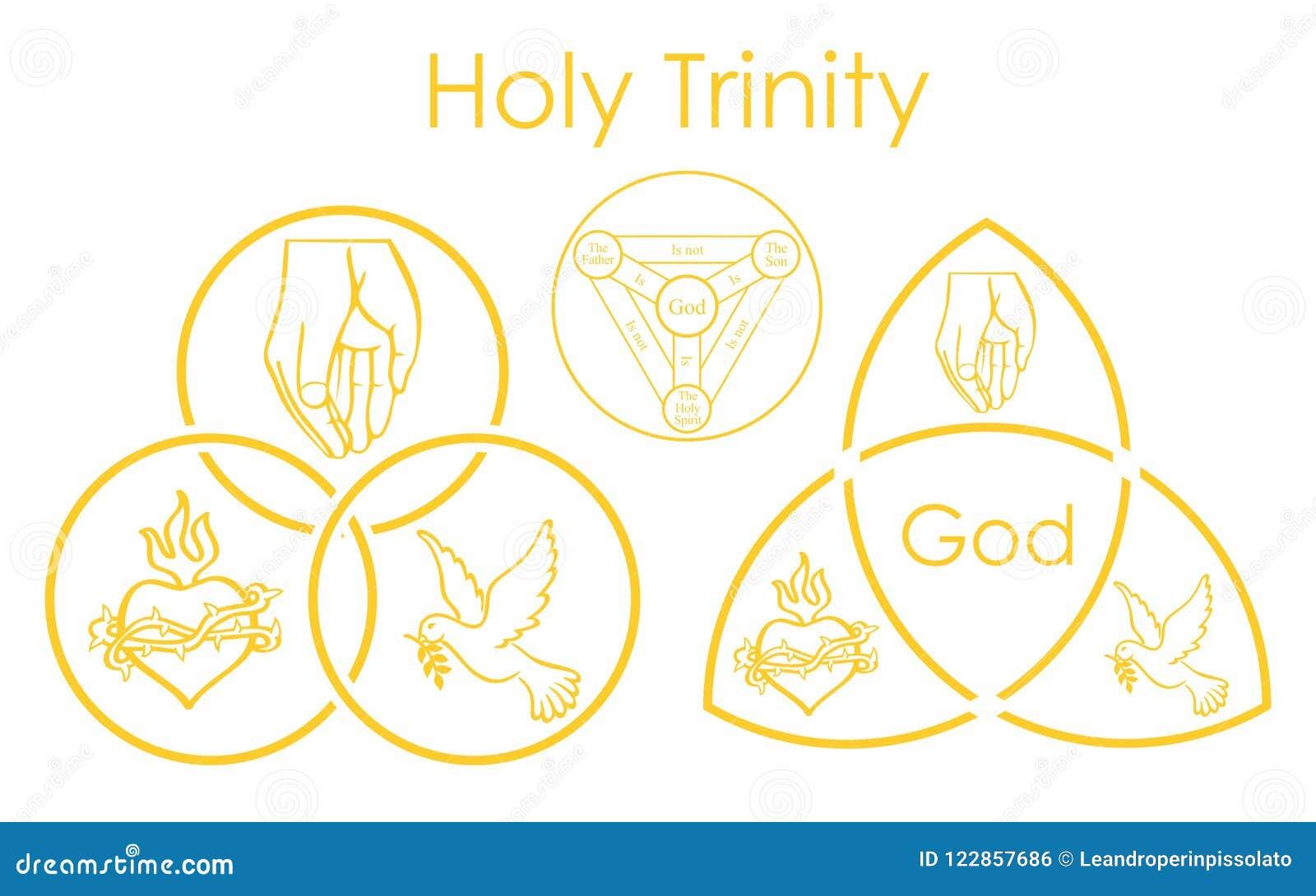 Simbolo della trinità santa Simbolo sacro del cristiano