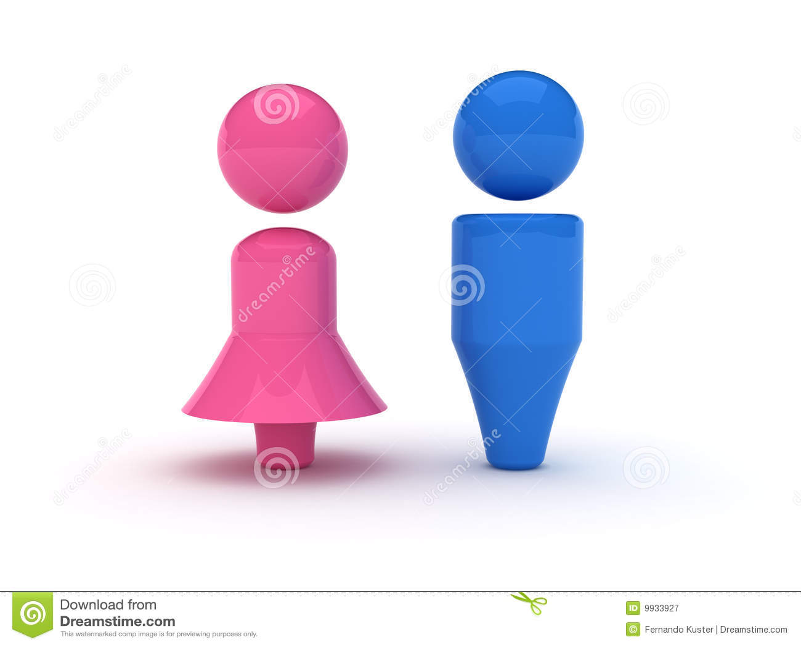 Simbolo Delle Donne E Degli Uomini Fotografia Stock Libera da Diritti ...