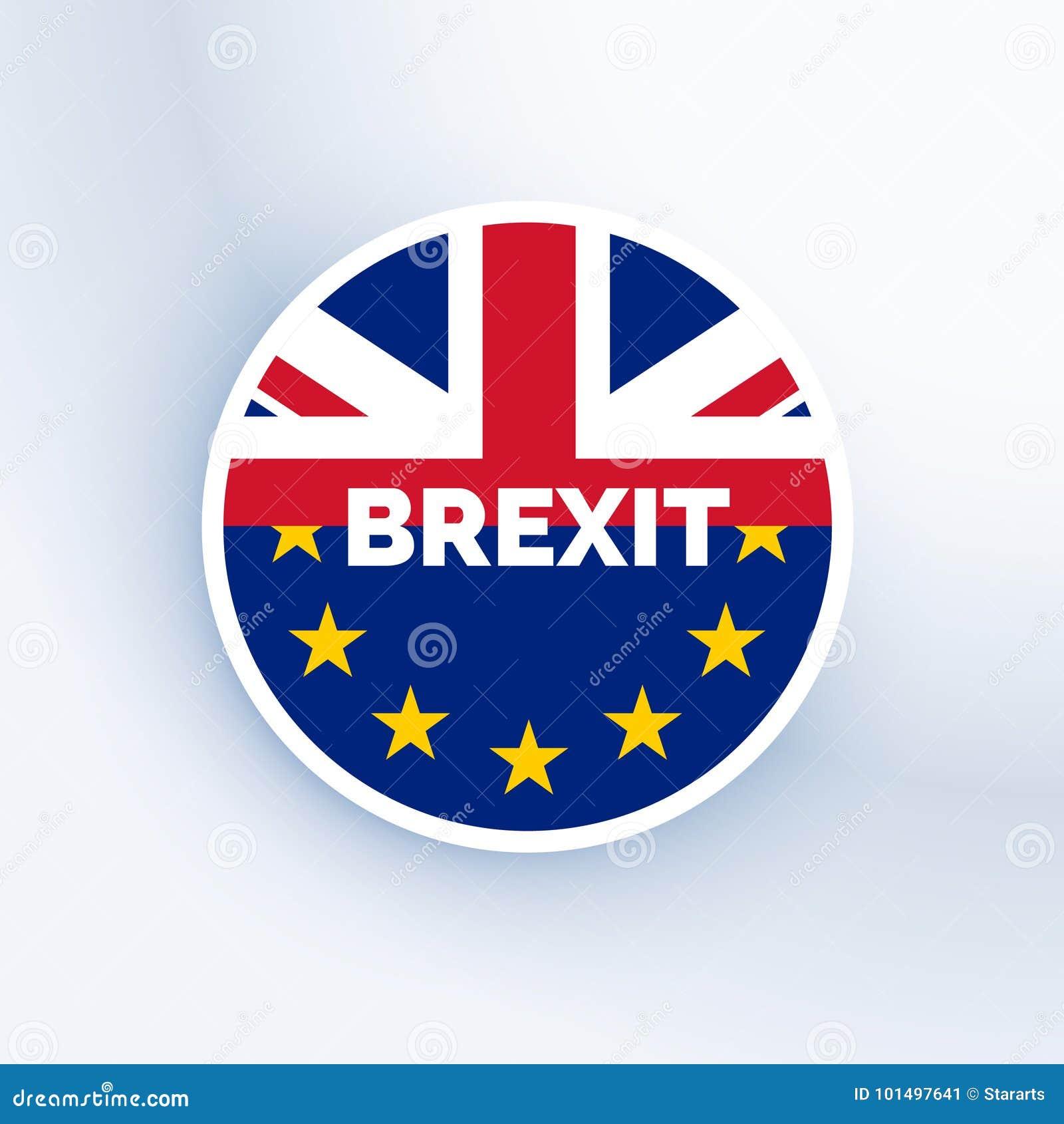 Simbolo di Brexit con la bandiera dell Eu e del Regno Unito