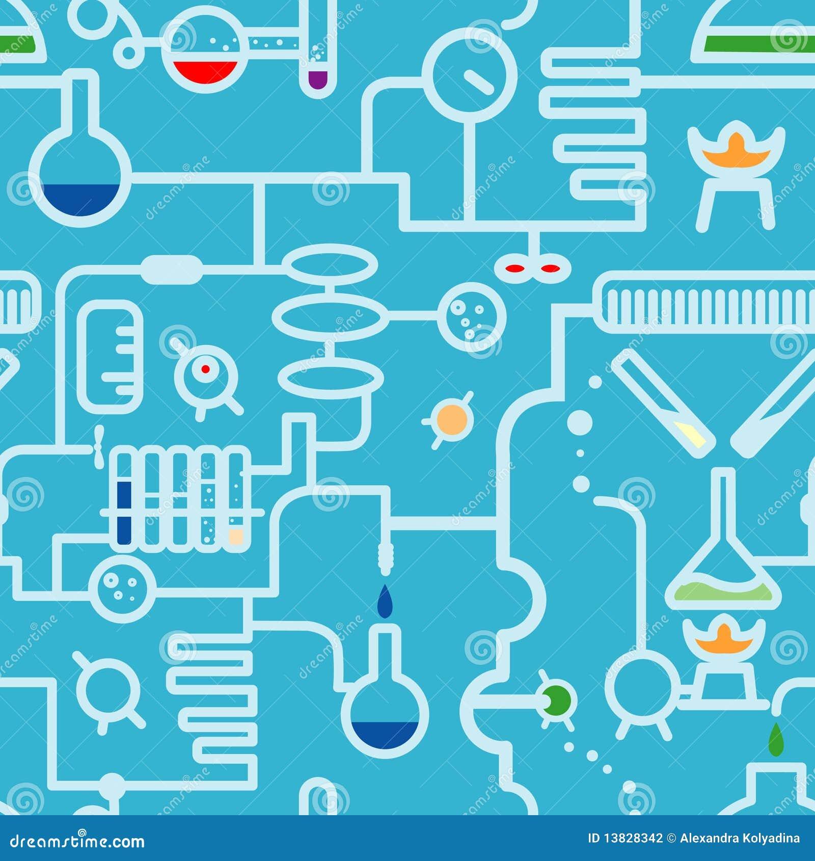 Simbolo di chimica senza giunte fotografia stock for Sfondi chimica