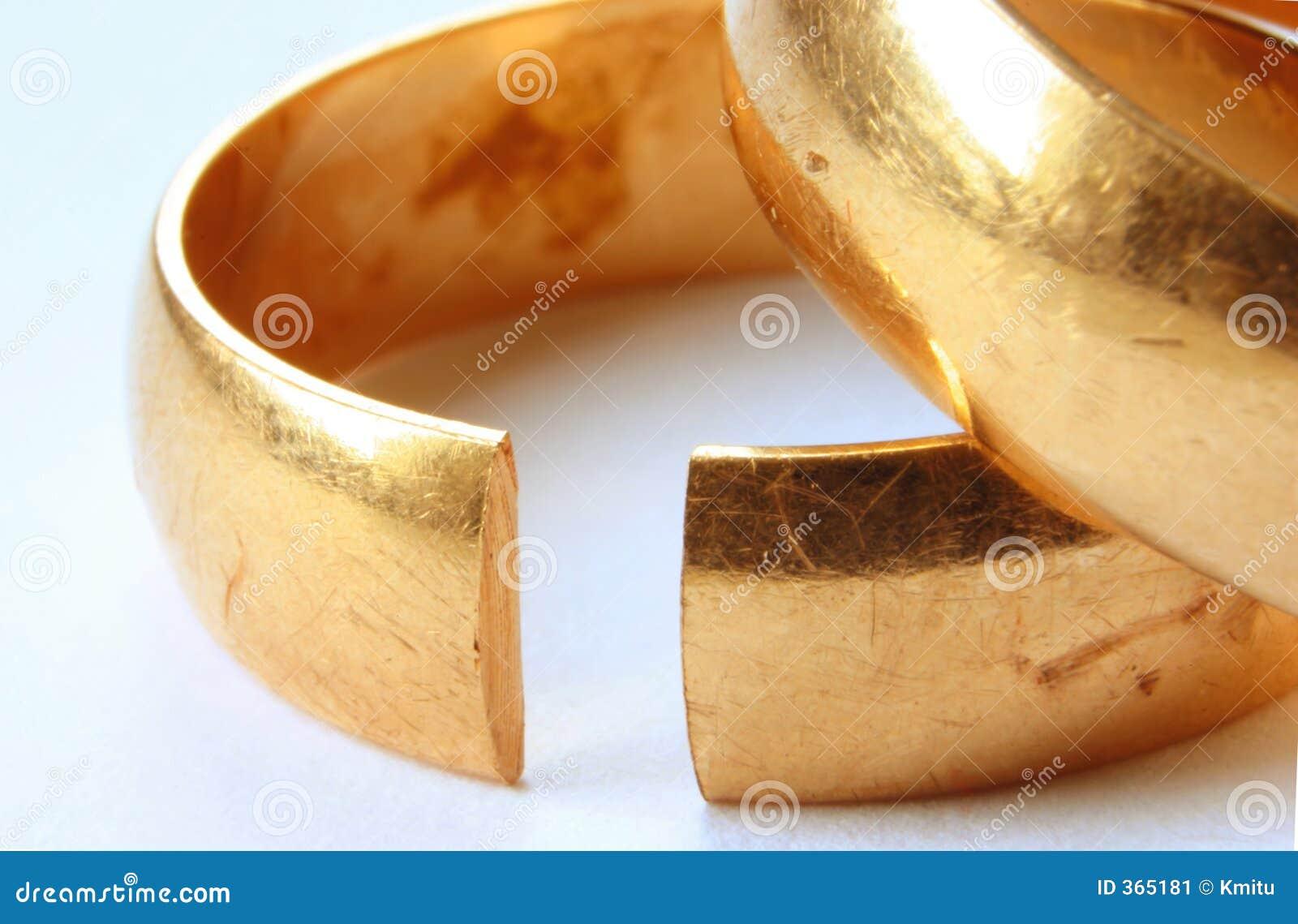 Simbolo di divorzio - macro reale