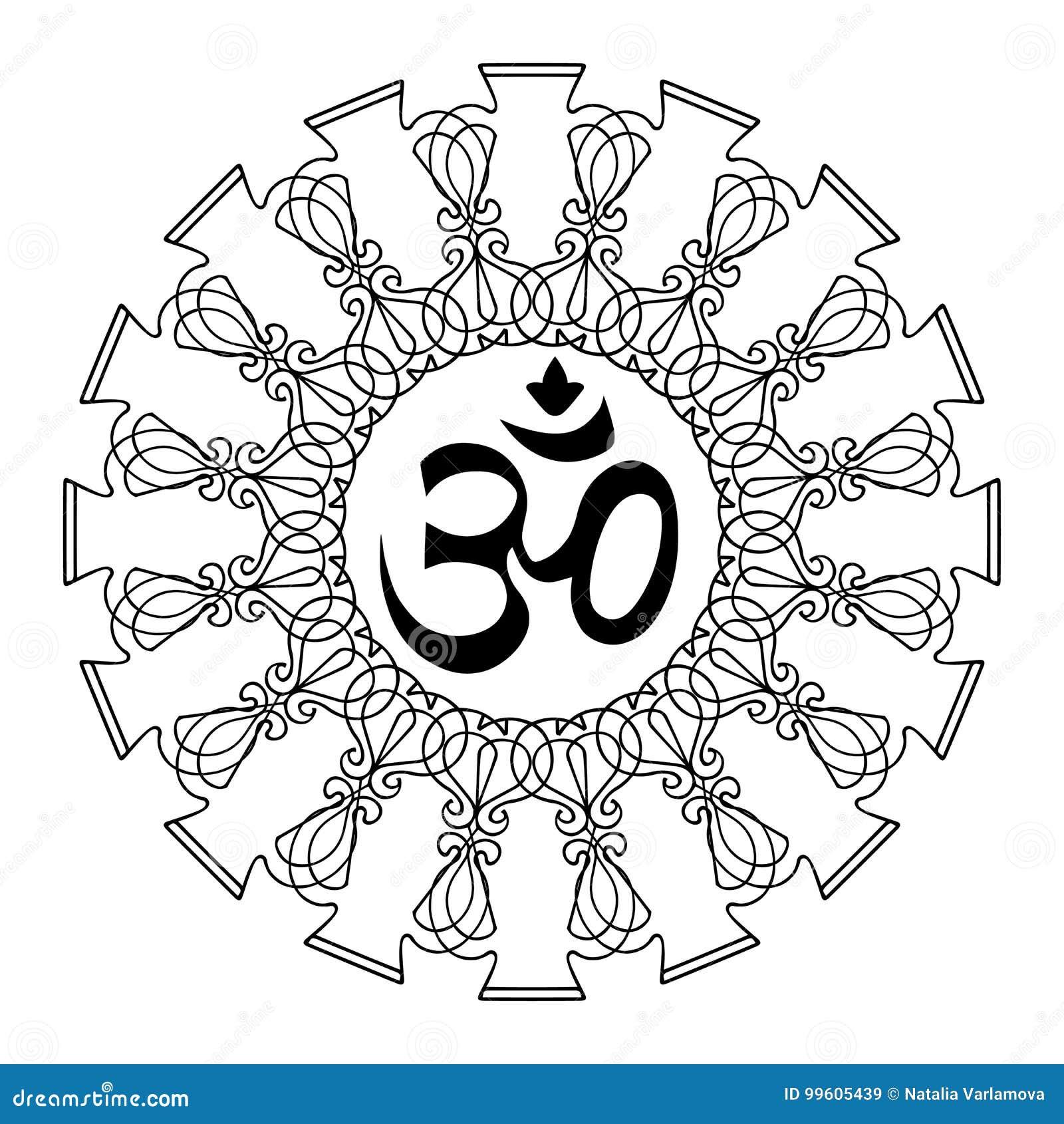 Simbolo di ohm di Diwali con la mandala