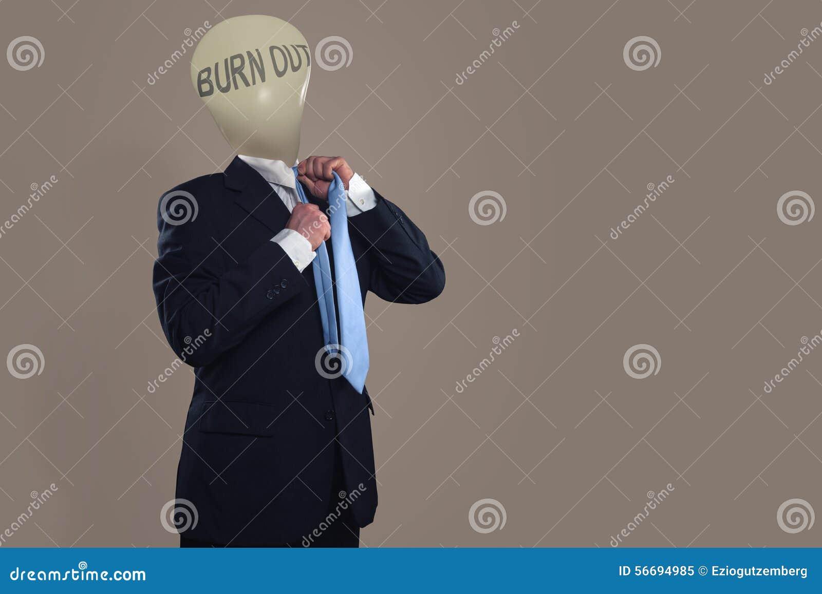 Simbolo di un uomo d affari con la sindrome di burnout