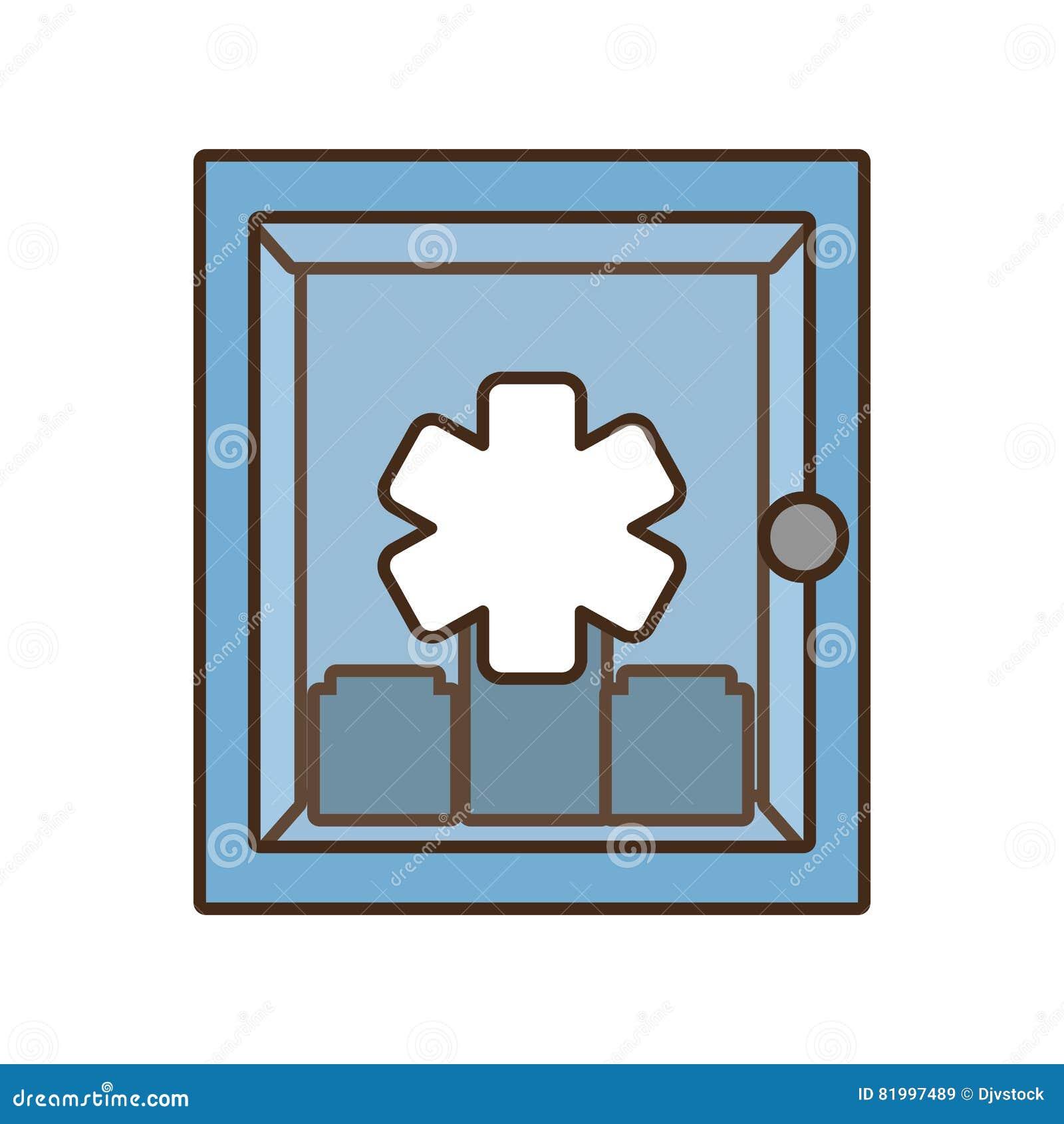 Simbolo Trasversale Medico Della Cassetta Di Pronto Soccorso Del