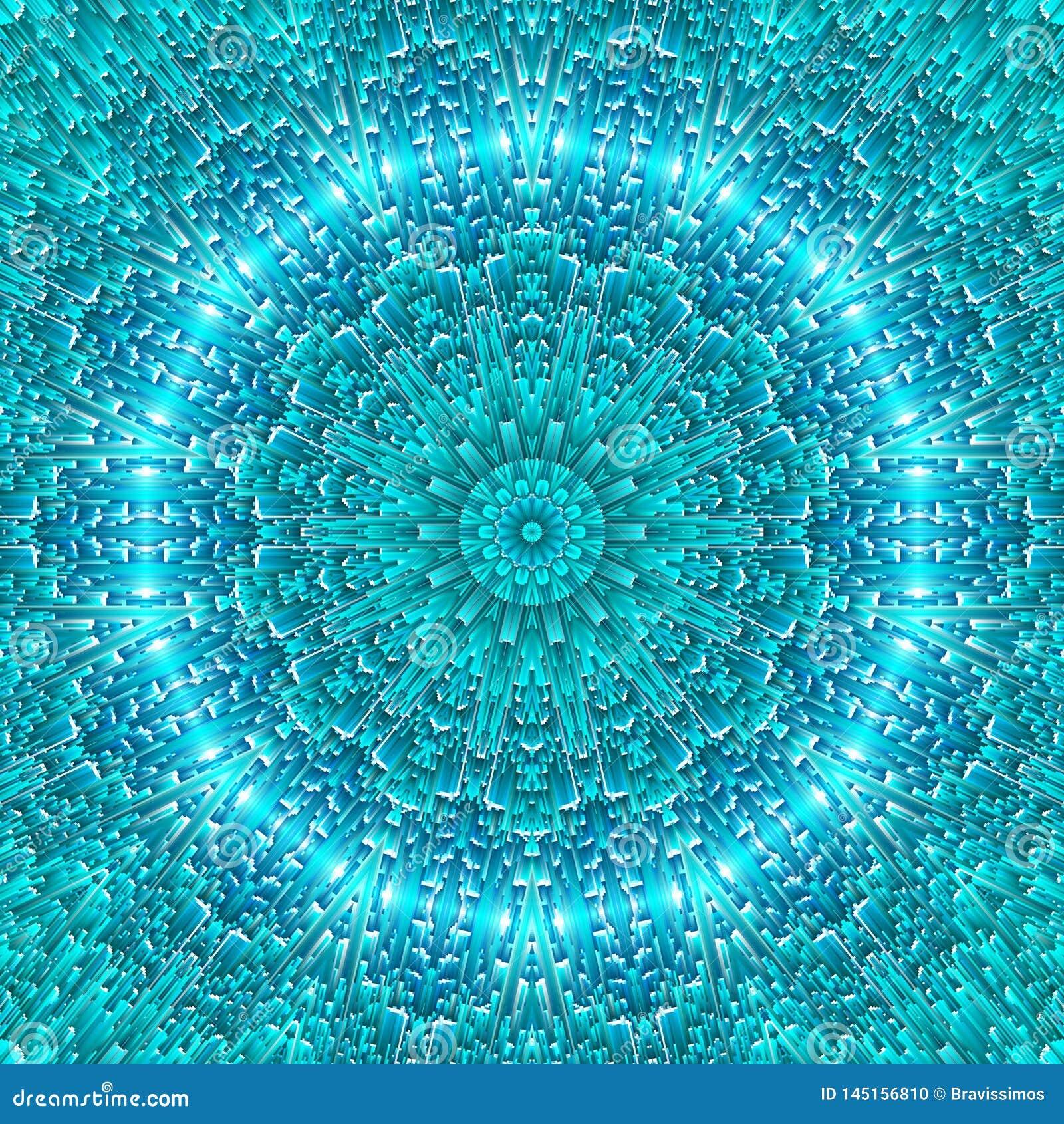Simetria azul abstrata do teste padr?o do gelo backdrop