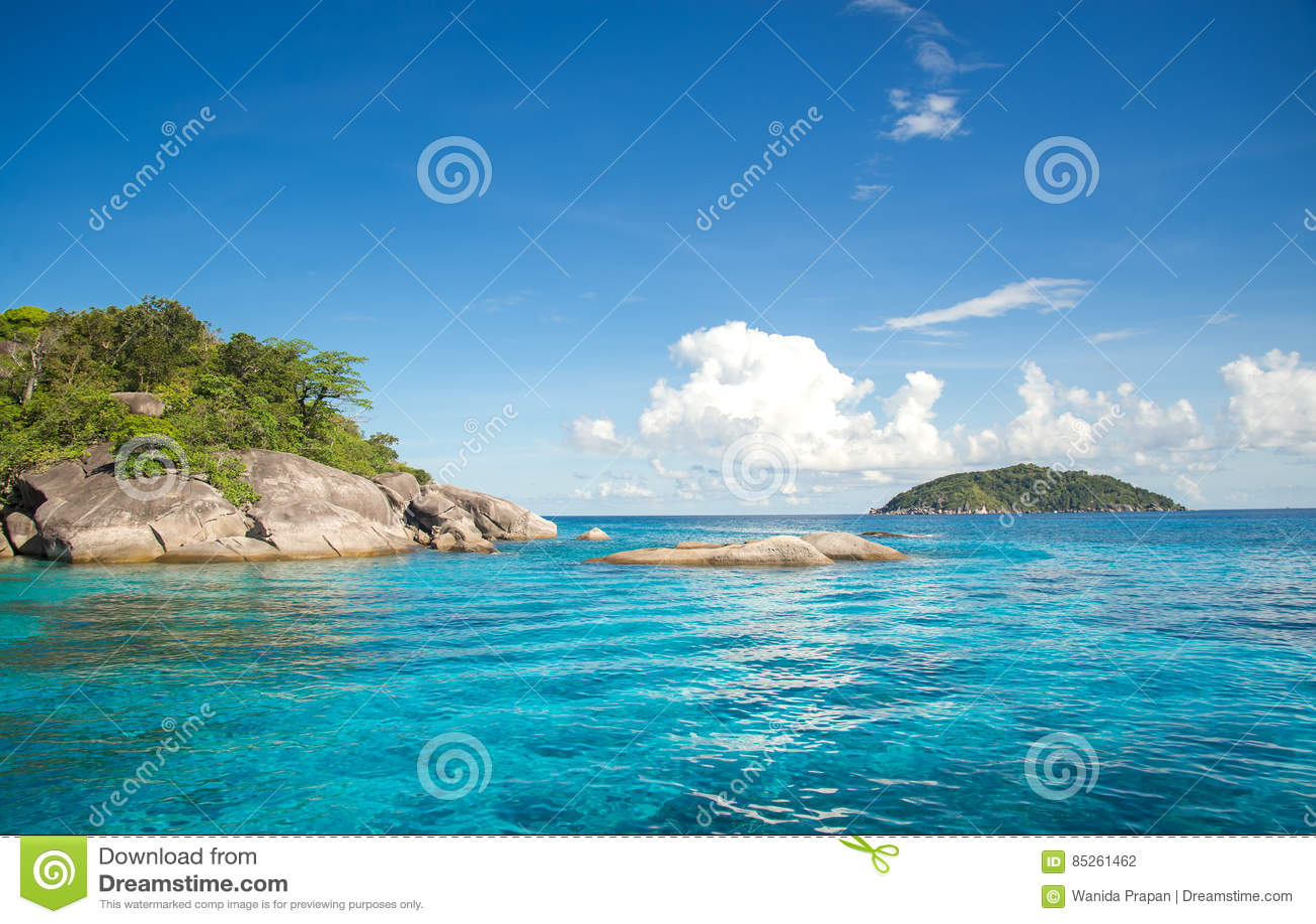 Similan海岛在安达曼海,