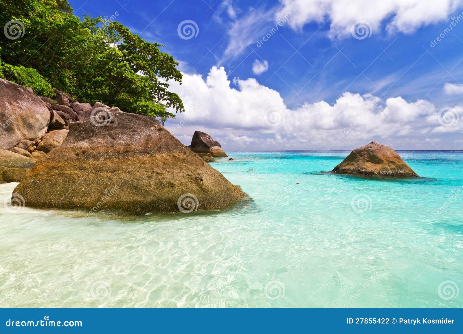 Similan Wyspy piękna plażowa sceneria