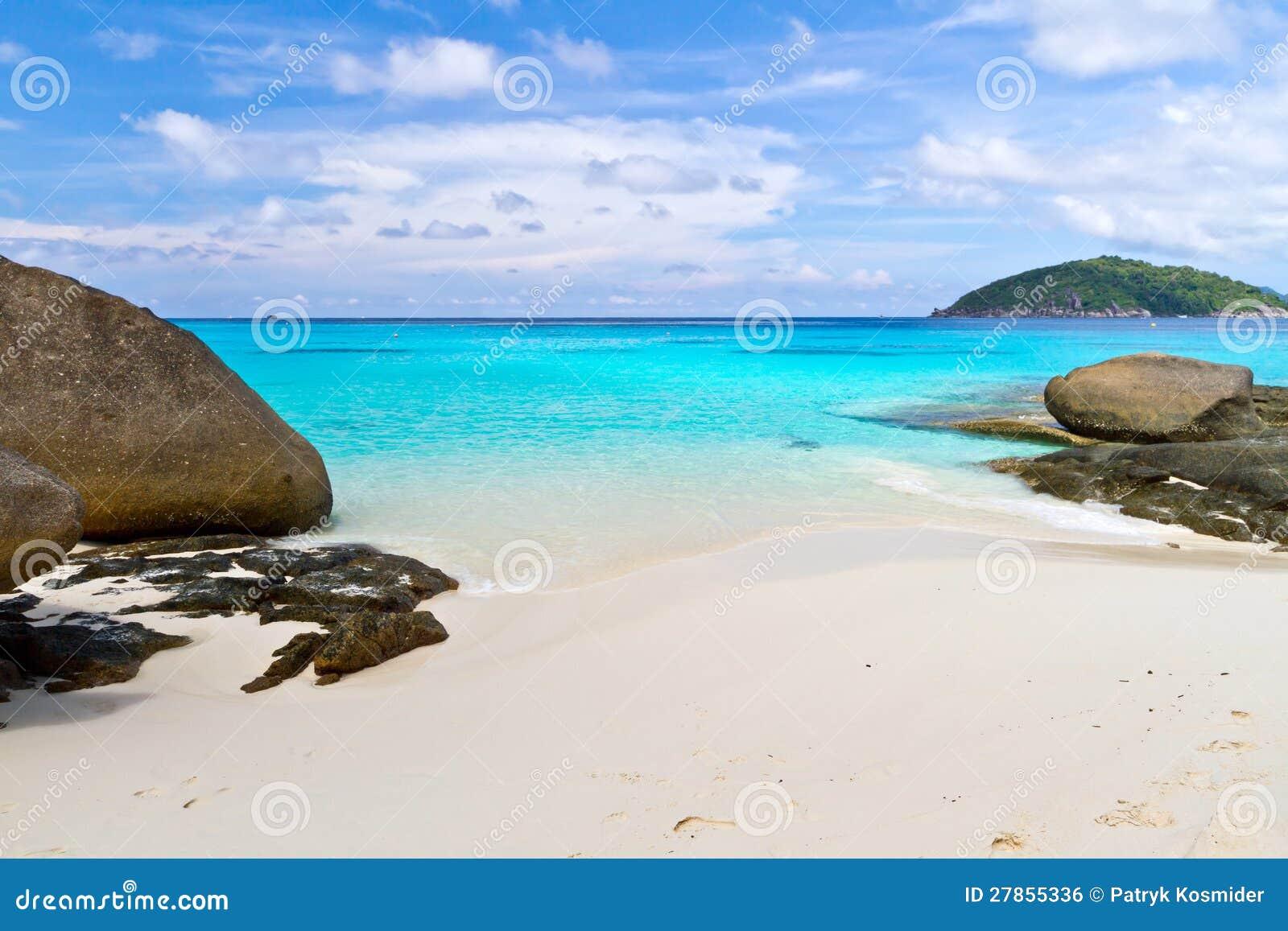 Similan wyspy tropikalna plaża