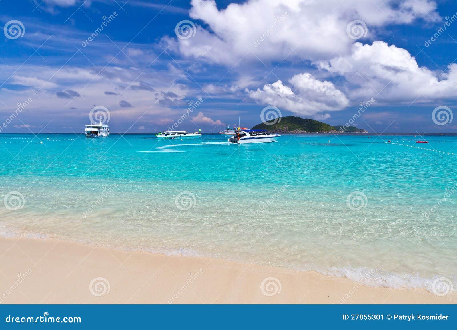 Similan wyspy tropikalna sceneria