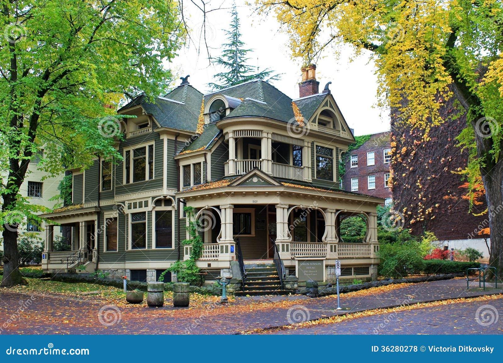 Simon benson house in portland oregon editorial stock for Building a home in oregon