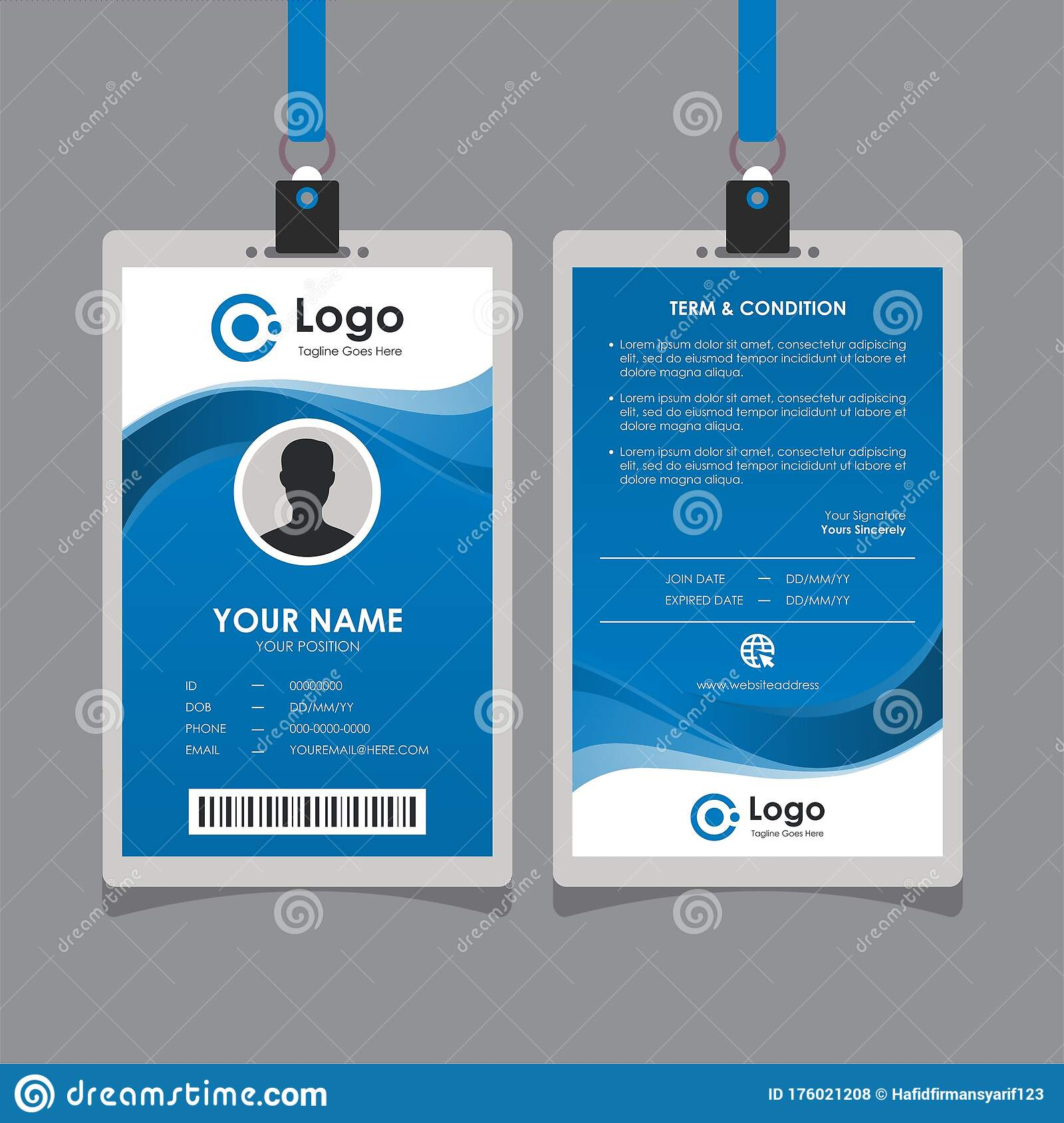 Wave Id Stock Illustrations – 21 Wave Id Stock Illustrations Throughout Template For Id Card Free Download