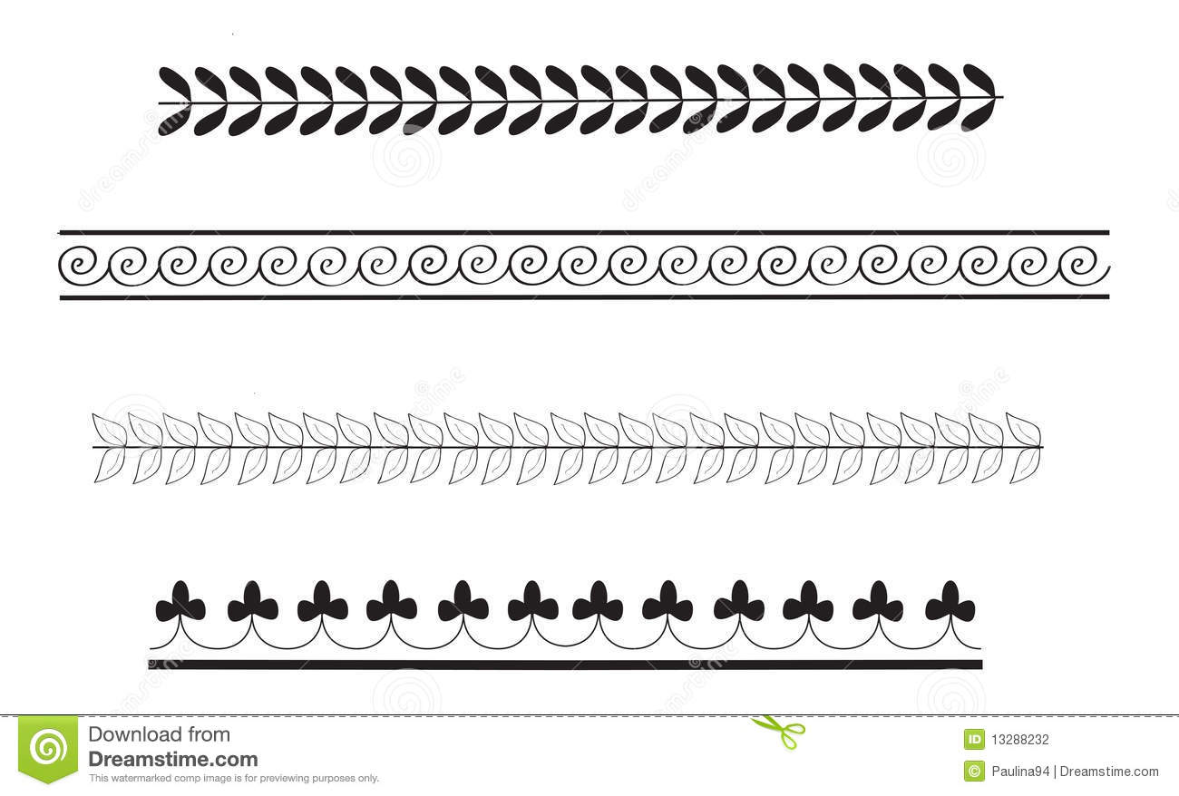Simple Ancient Greek Border Patterns Stock Illustration