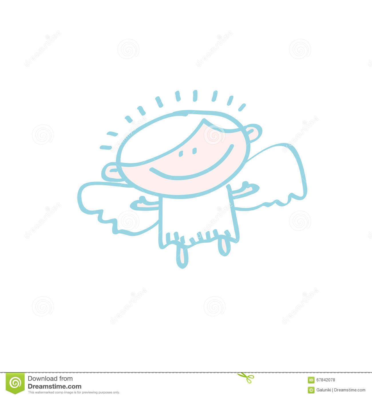 simple angel icon stock vector image 67842078