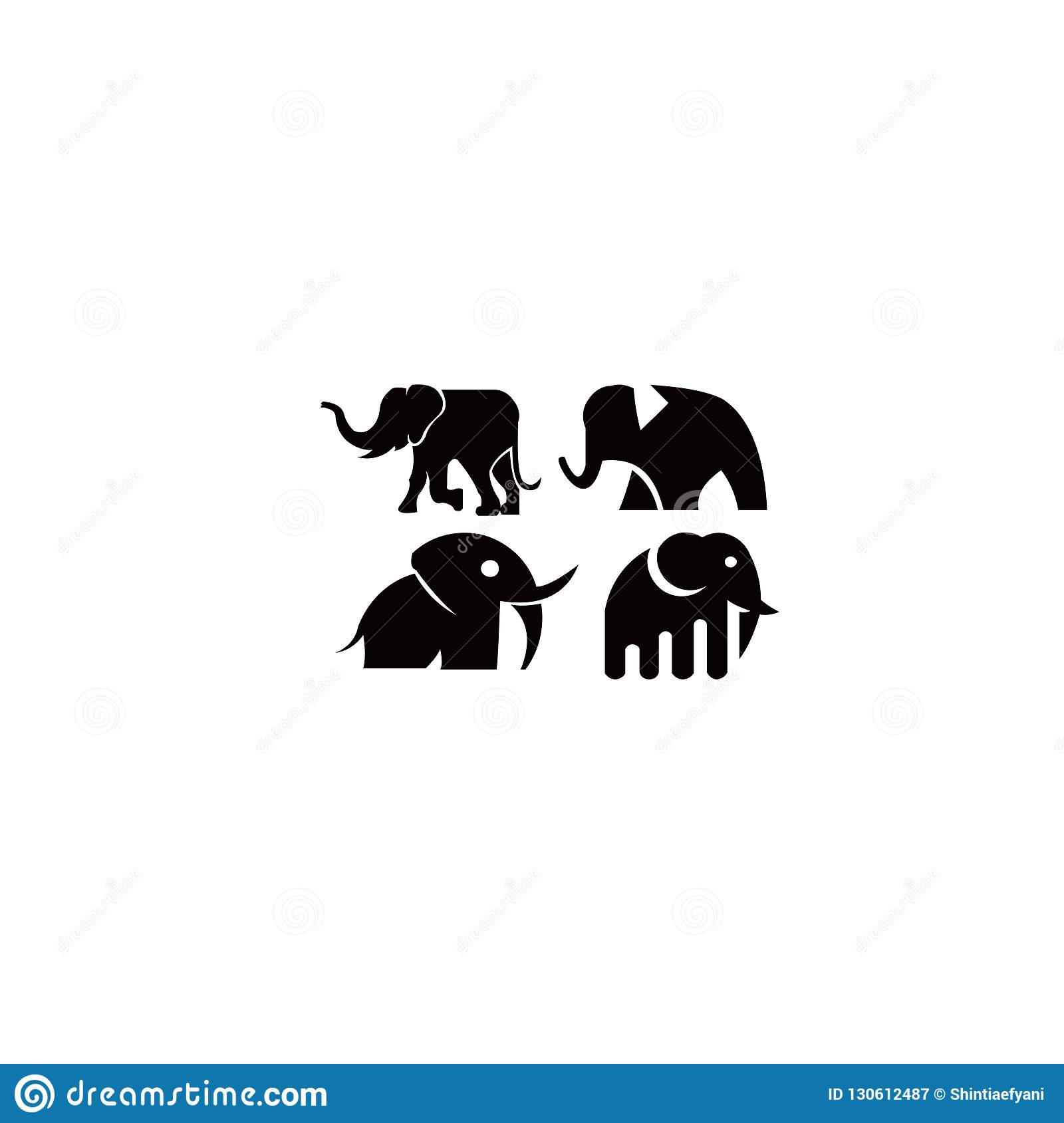 4f443c03be0c Simple animal elephant icon