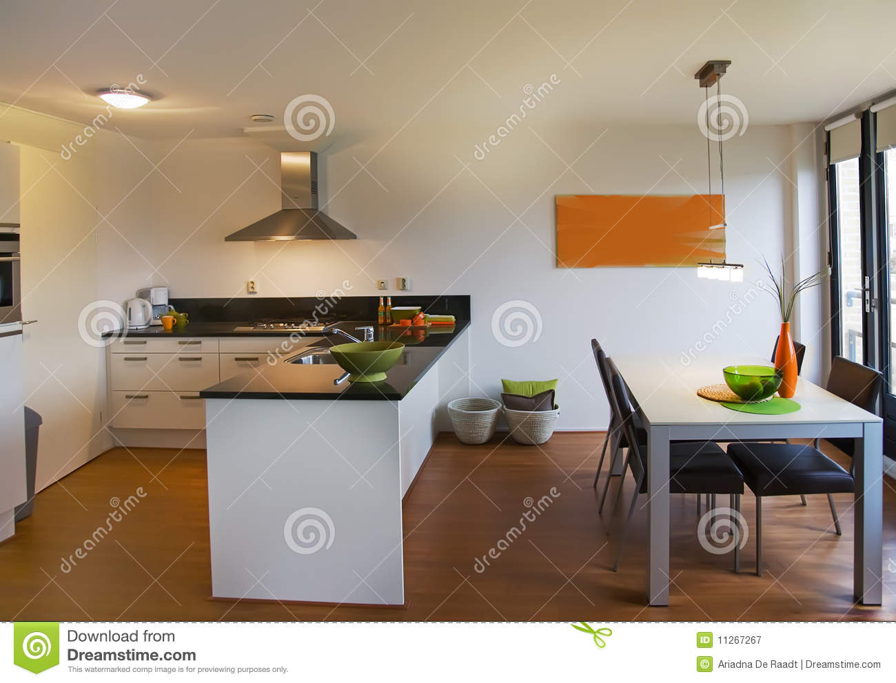 Simple apartment stock image image of modern decoration