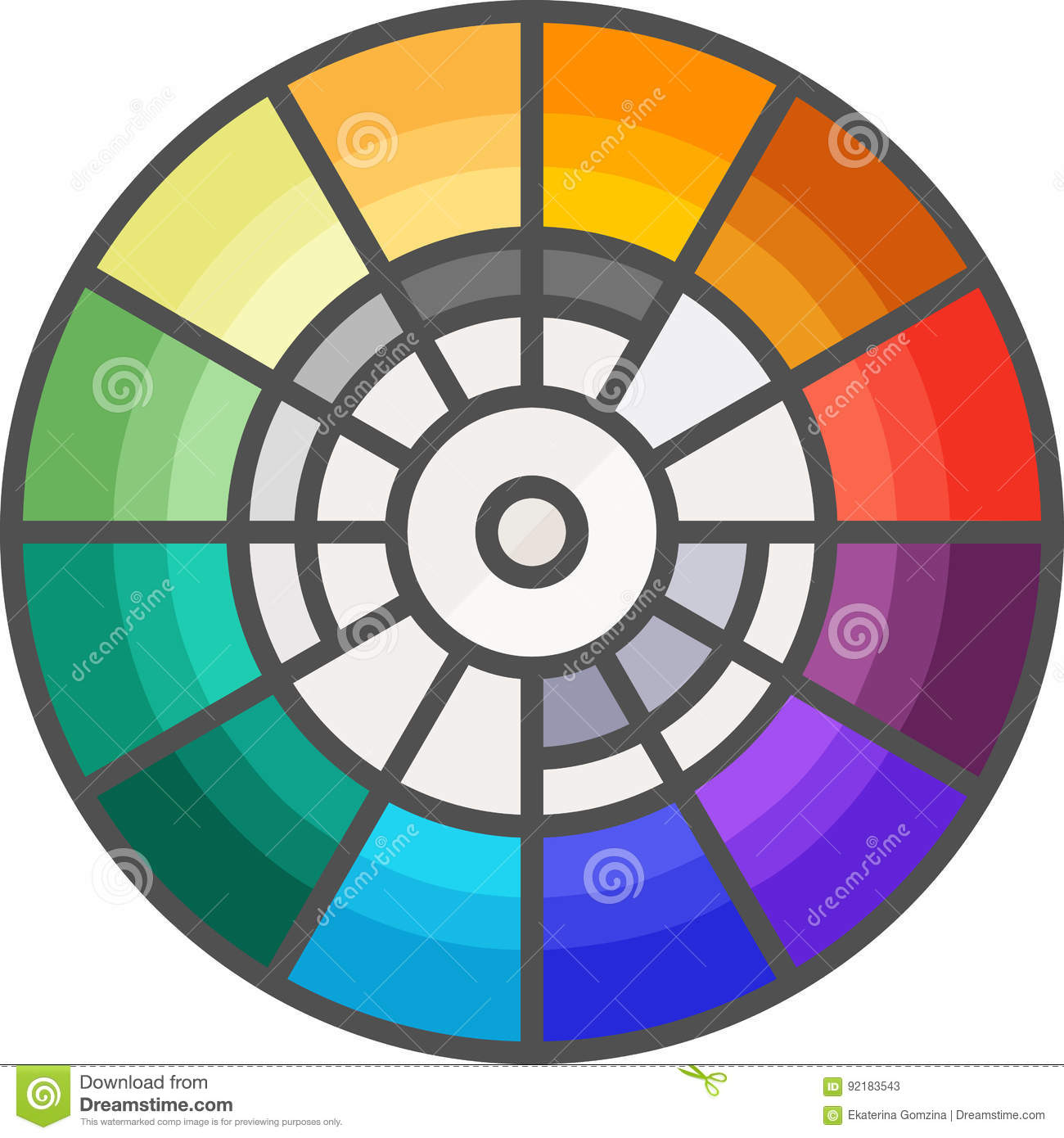 Simple Artistic And Hobby Vector Flata Icon Color Wheel For Picking