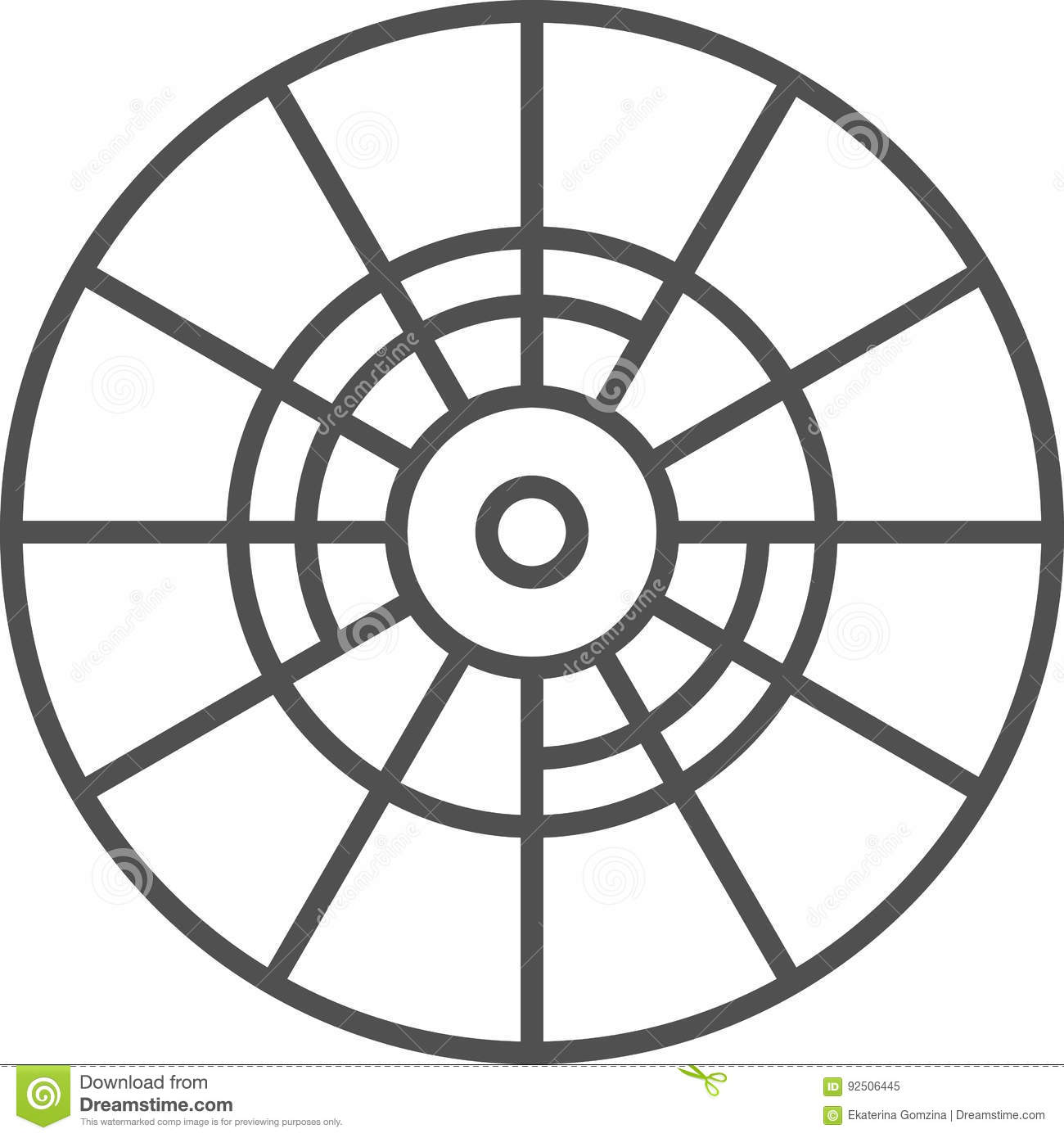 Simple Artistic And Hobby Vector Line Arta Icon Color Wheel For