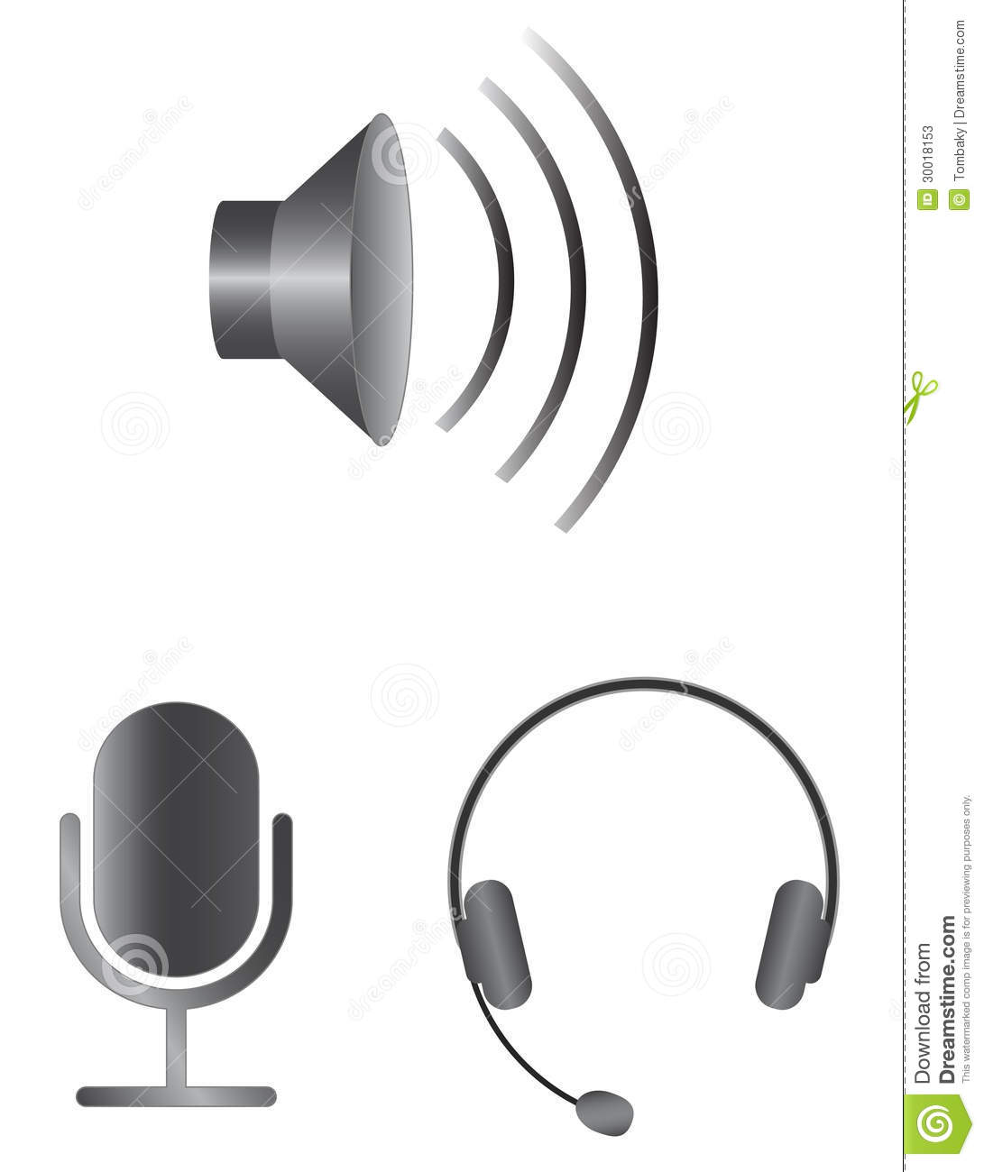 Download Simple audio icons stock vector. Illustration of speaker - 30018153