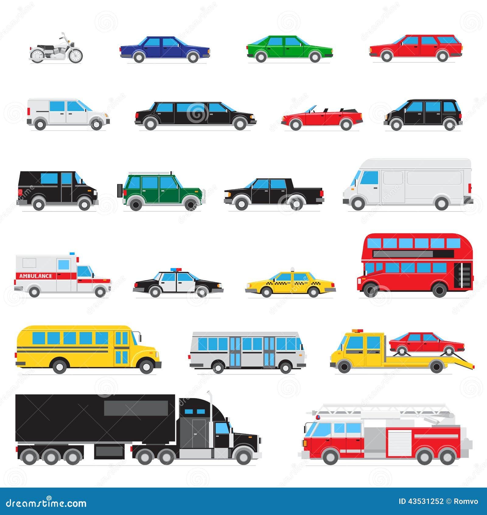 Simple Auto Icon Set Stock Vector - Image: 43531252