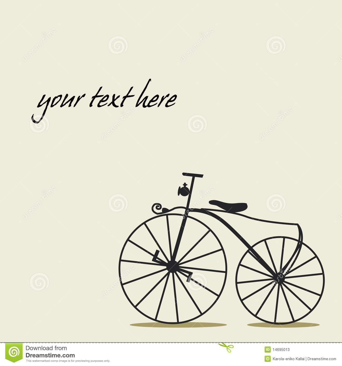 Simple Background With A Bicycle Stock Vector - Image ...