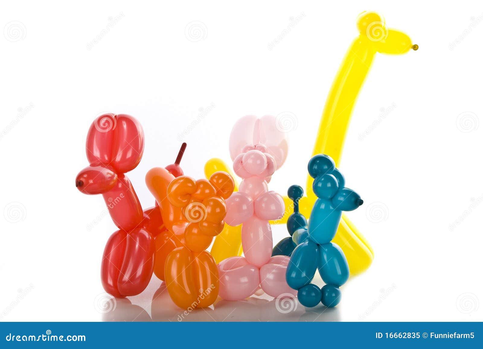 Simple Balloon Animals On White Royalty Free Stock Photo - Image ...