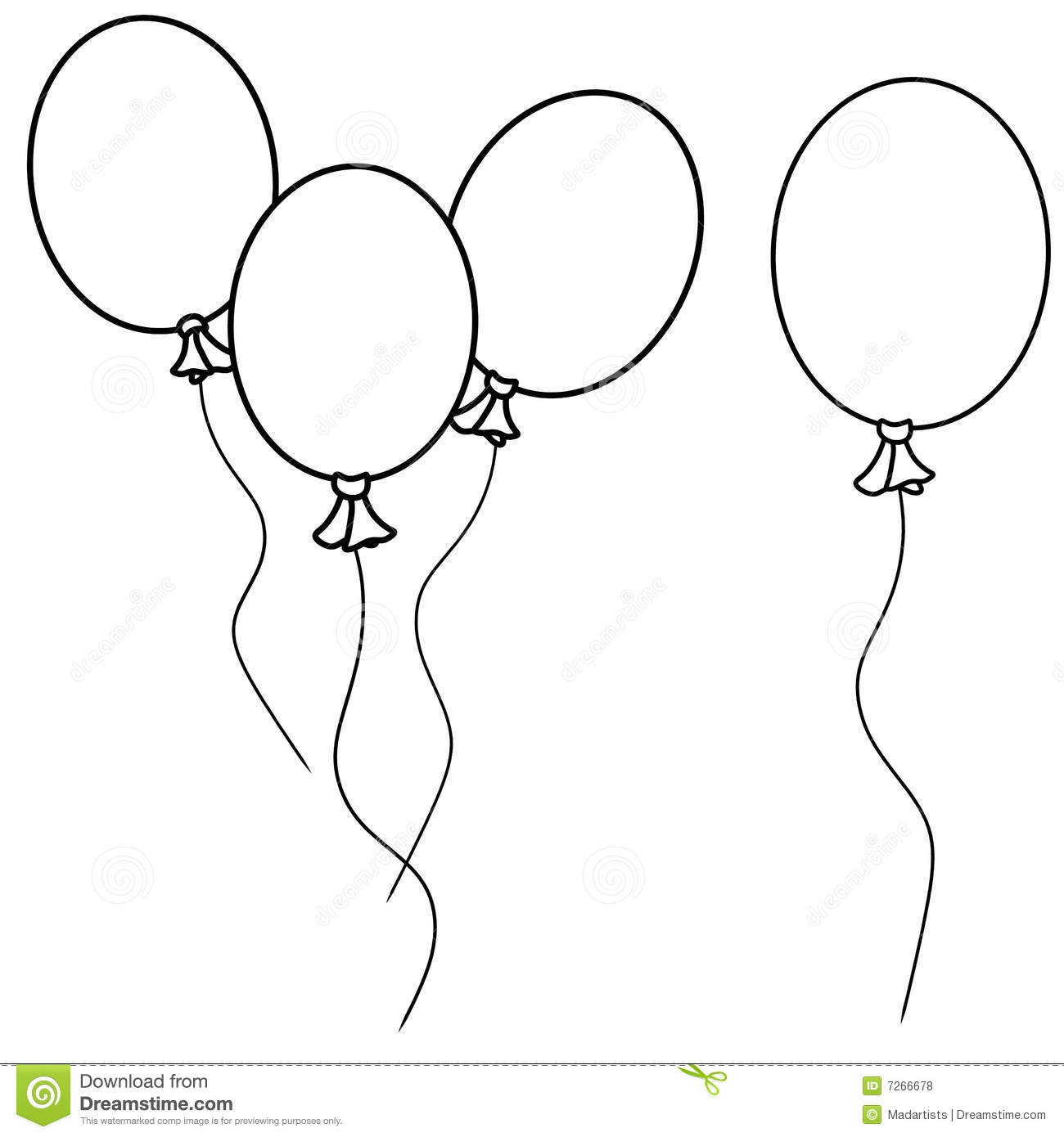 Jpg To Line Drawing : Simple balloons line art stock illustration