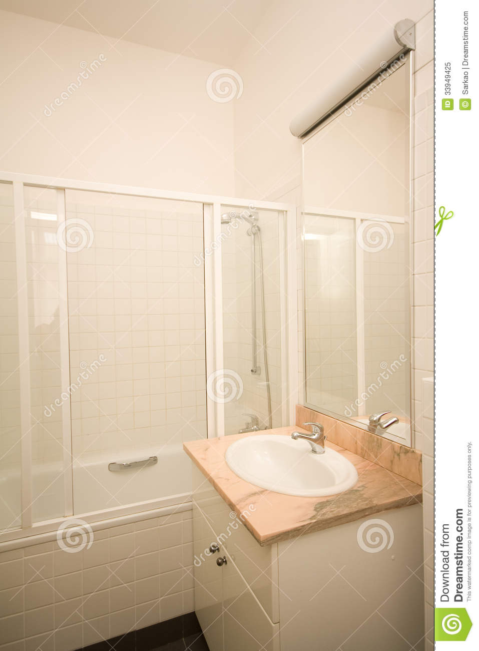 Simple Bathroom Royalty Free Stock Photo Image 33949425