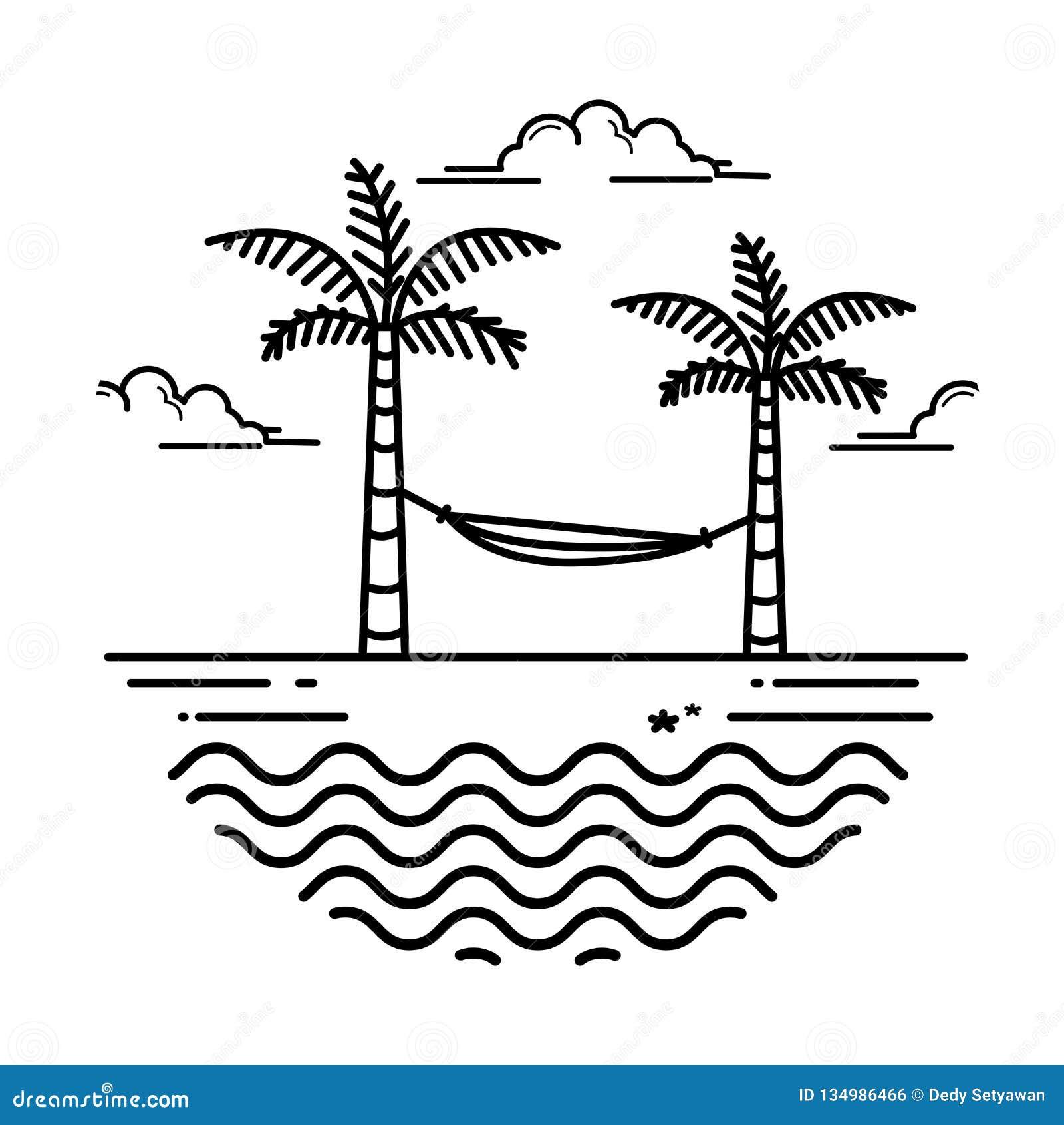 Simple beach design stock vector  Illustration of resort
