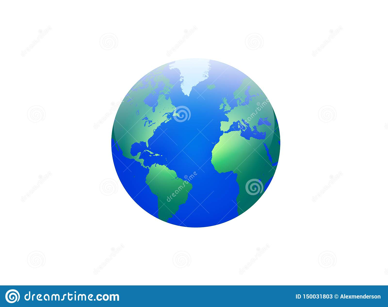 World Globe Map With Continents And Oceans Stock Image ...