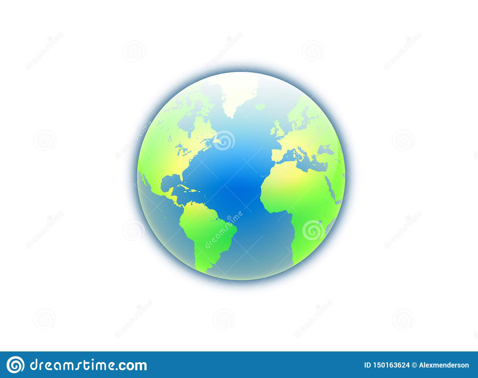 Picture of: World Globe Map With Continents And Oceans Stock Photo Illustration Of Geography Asia 150163624