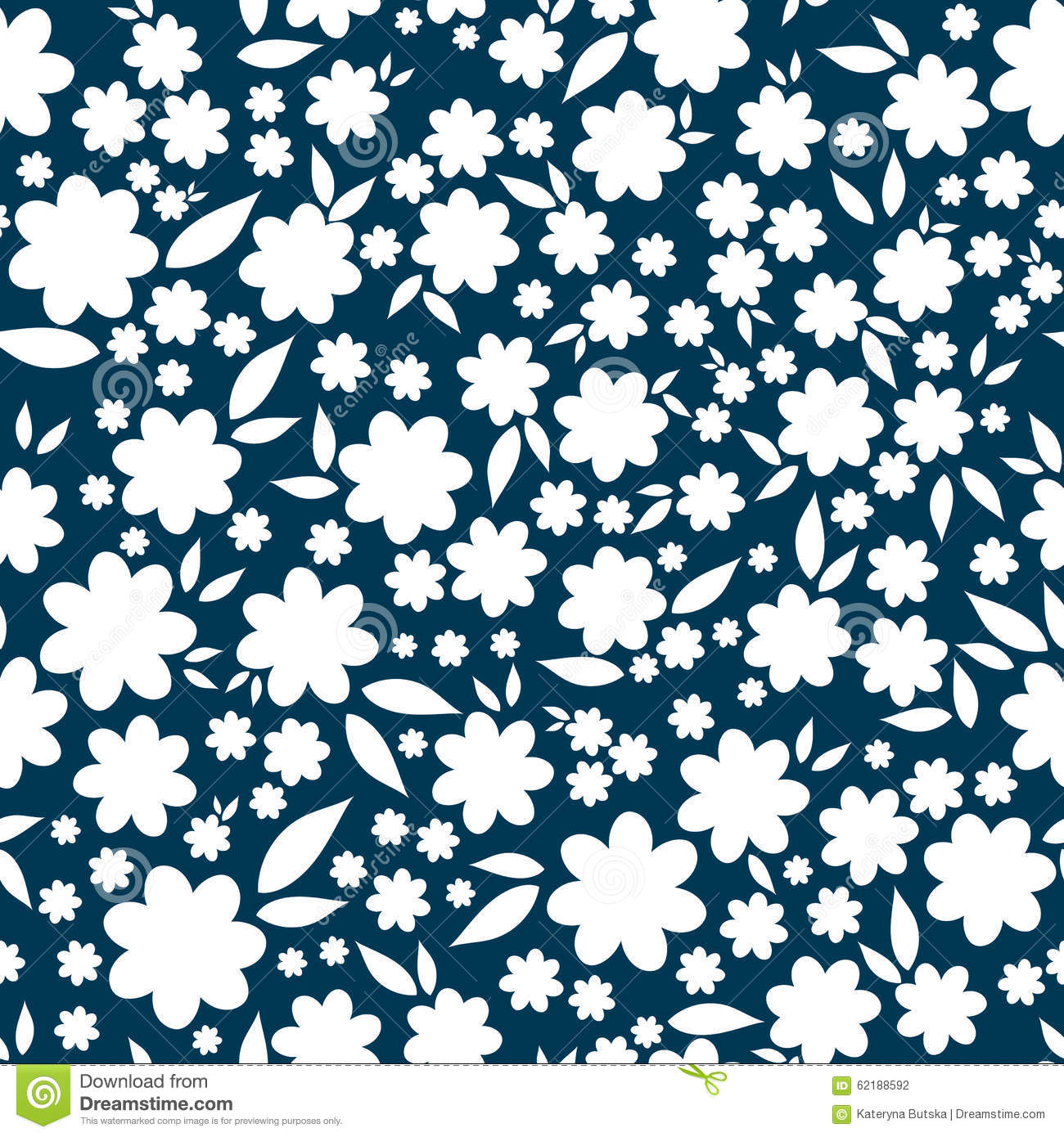 Simple And Beauty Flower Seamless Pattern. Vector Stock ...