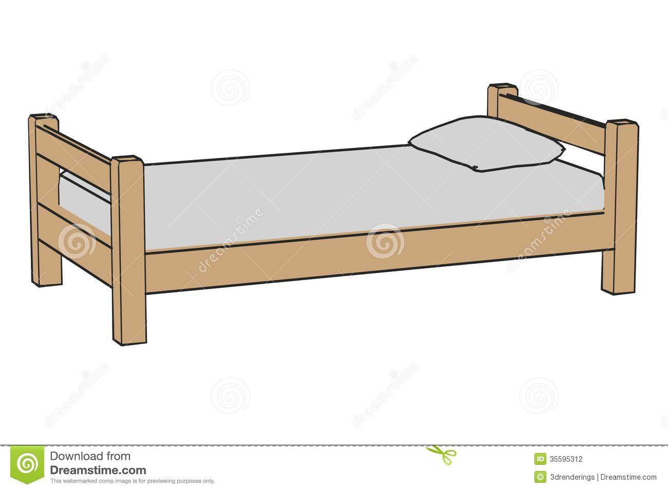 Royalty Free Stock Photo. Simple bed stock illustration  Image of child  hand  classic