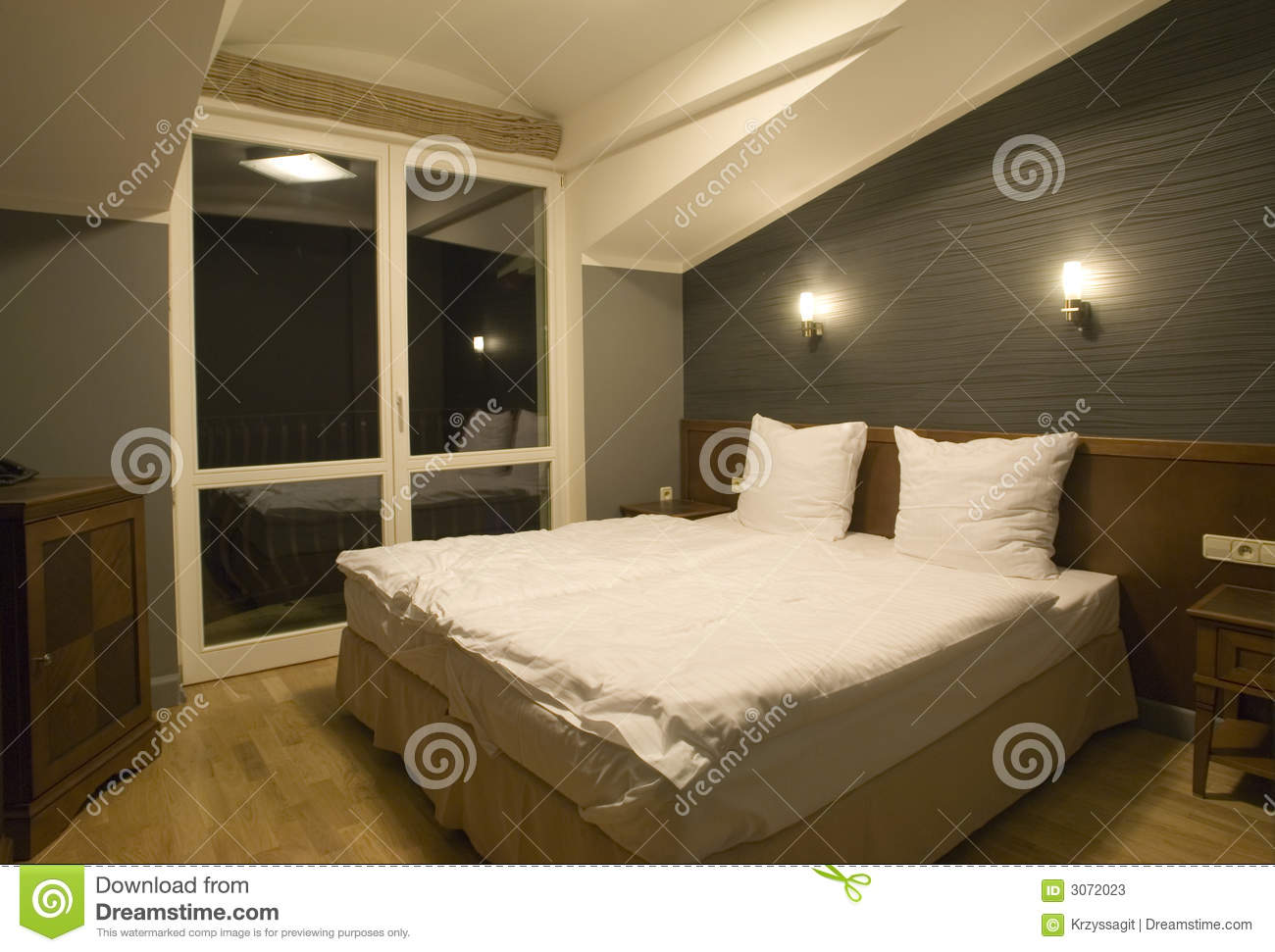 Simple Bedroom Stock Image Of Basic Indoors