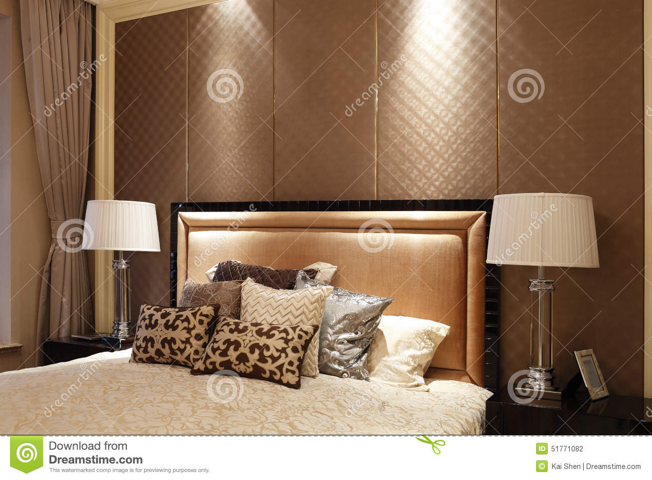 simple bedroom in the apartment stock photo image 51771082